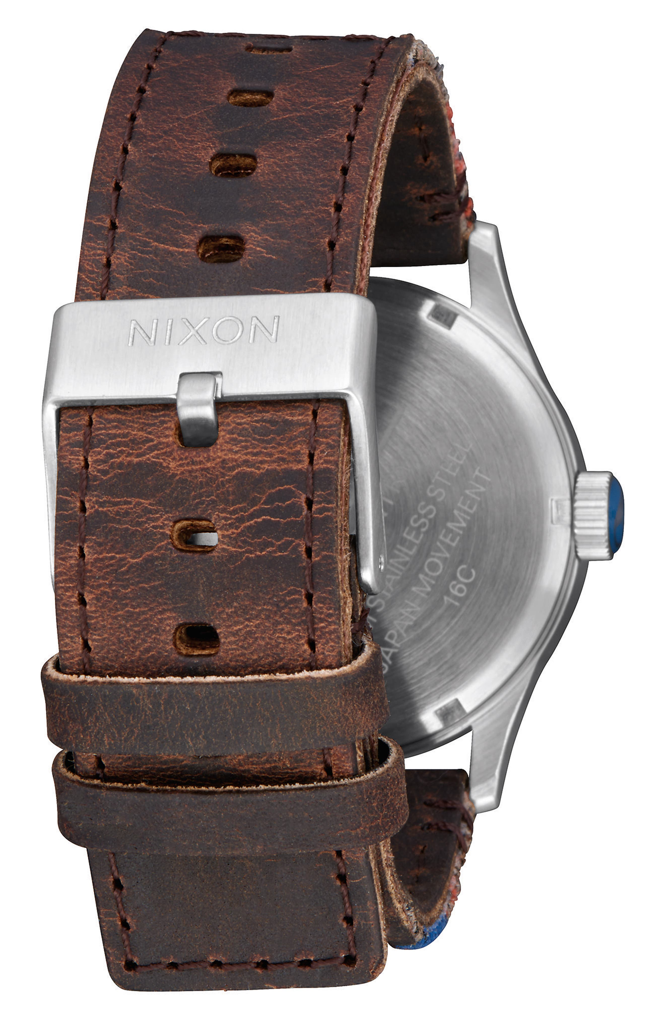 The Sentry Leather Strap Watch, 42mm,                             Alternate thumbnail 86, color,