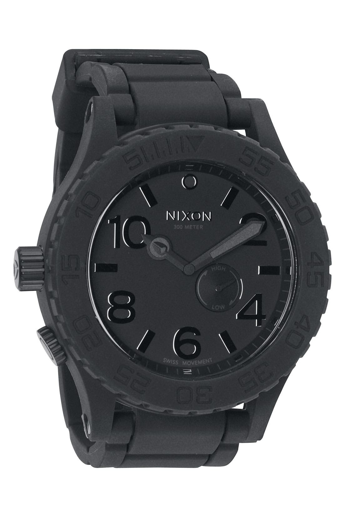 NIXON,                             'The 51-30 Rubber' Watch,                             Main thumbnail 1, color,                             001