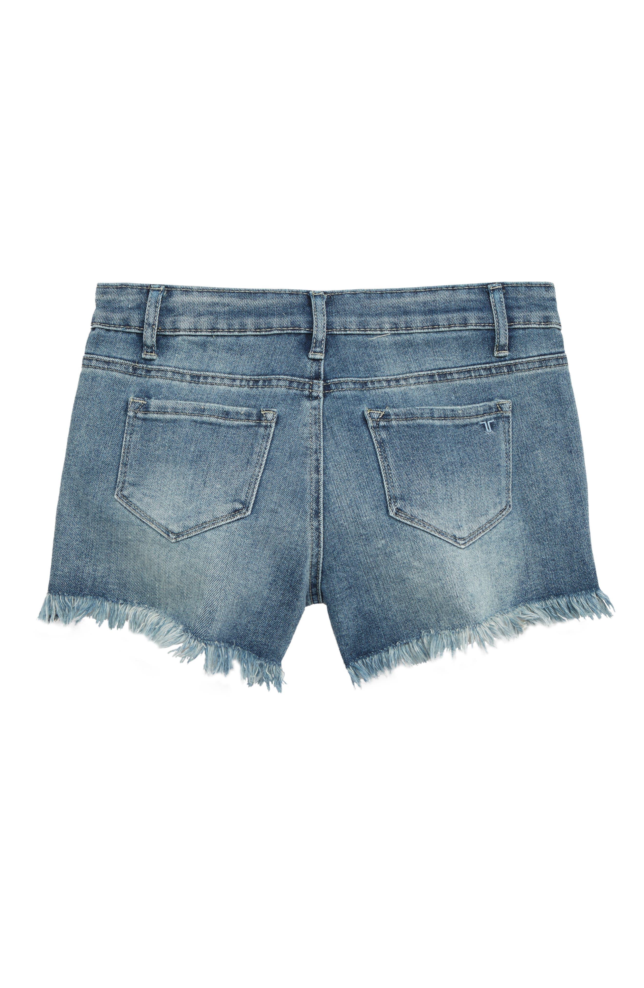 TRACTR,                             Cutoff Denim Shorts,                             Alternate thumbnail 2, color,                             INDIGO