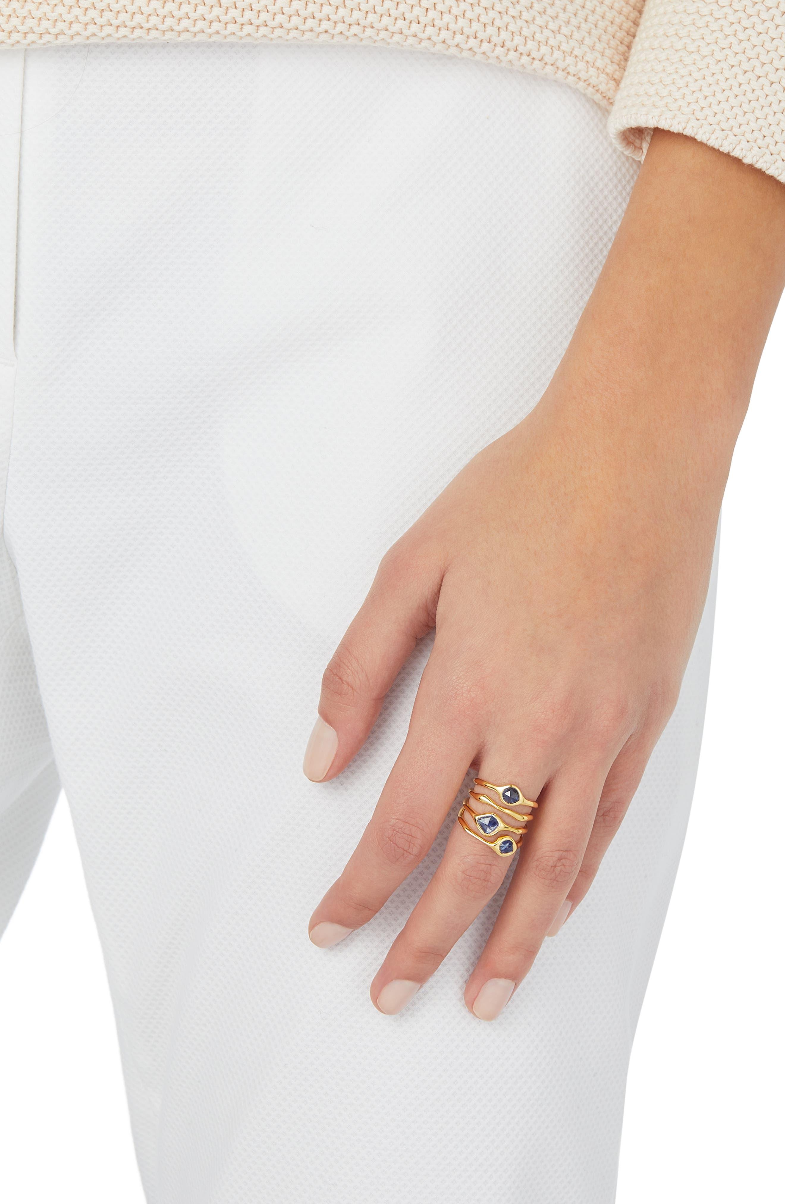 Siren Cluster Cocktail Ring,                             Alternate thumbnail 2, color,                             GOLD/ KYANITE