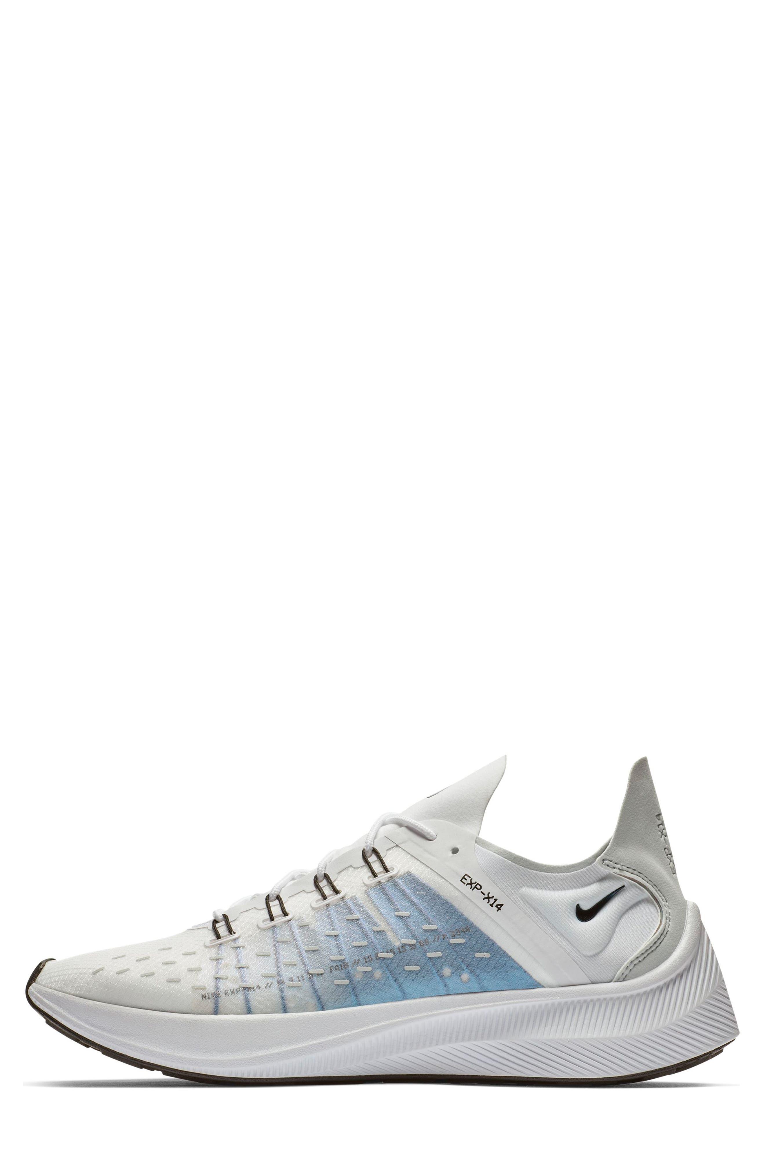 NIKE,                             EXP-X14 Y2K Running Shoe,                             Alternate thumbnail 8, color,                             WHITE/ PURE PLATINUM/ BLACK
