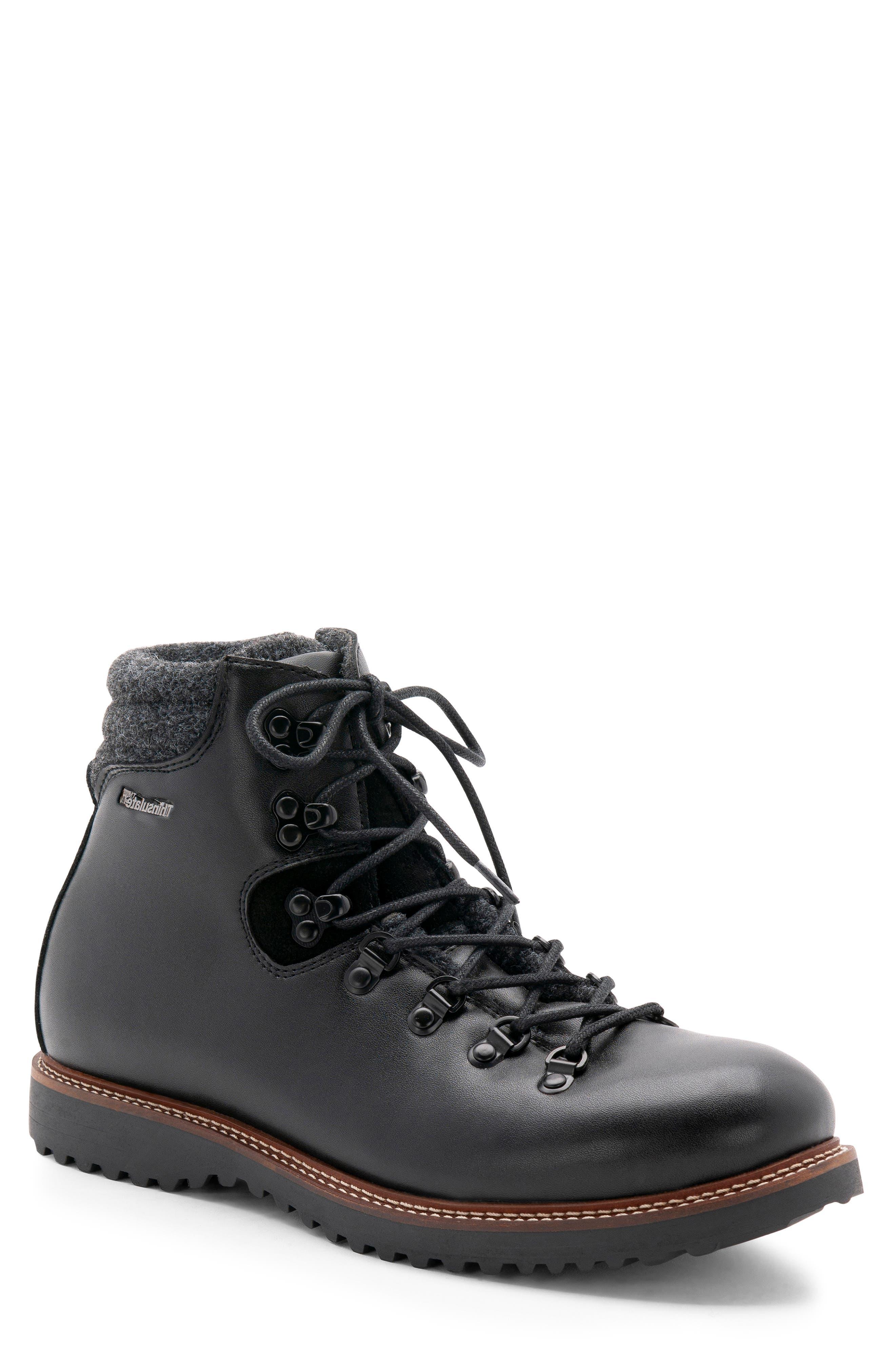 Morgan Waterproof Plain Toe Boot,                         Main,                         color, BLACK LEATHER