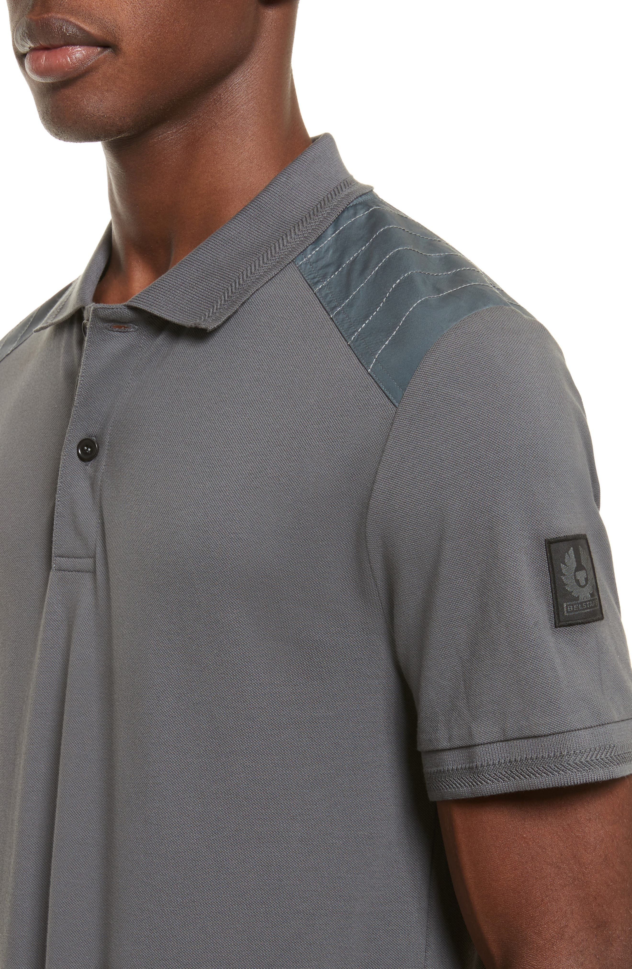 HItchin Extra Trim Fit Piqué Polo,                             Alternate thumbnail 14, color,