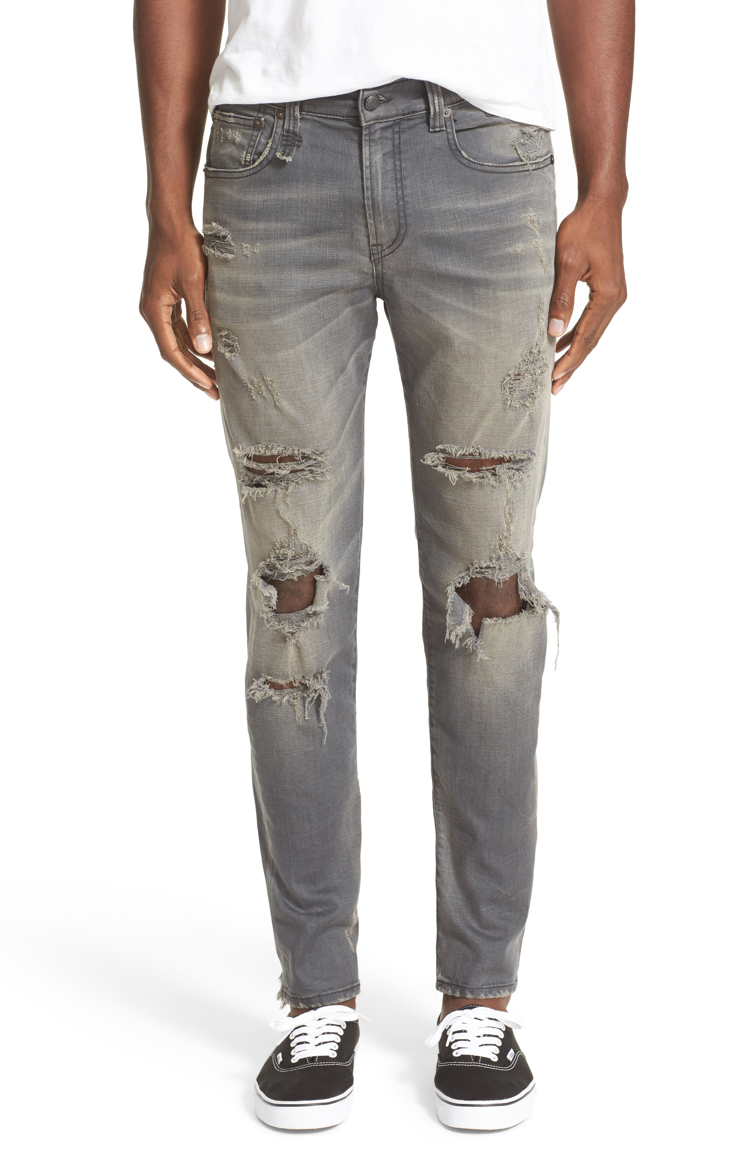 Skate Shredded Skinny Jeans,                         Main,                         color, 020
