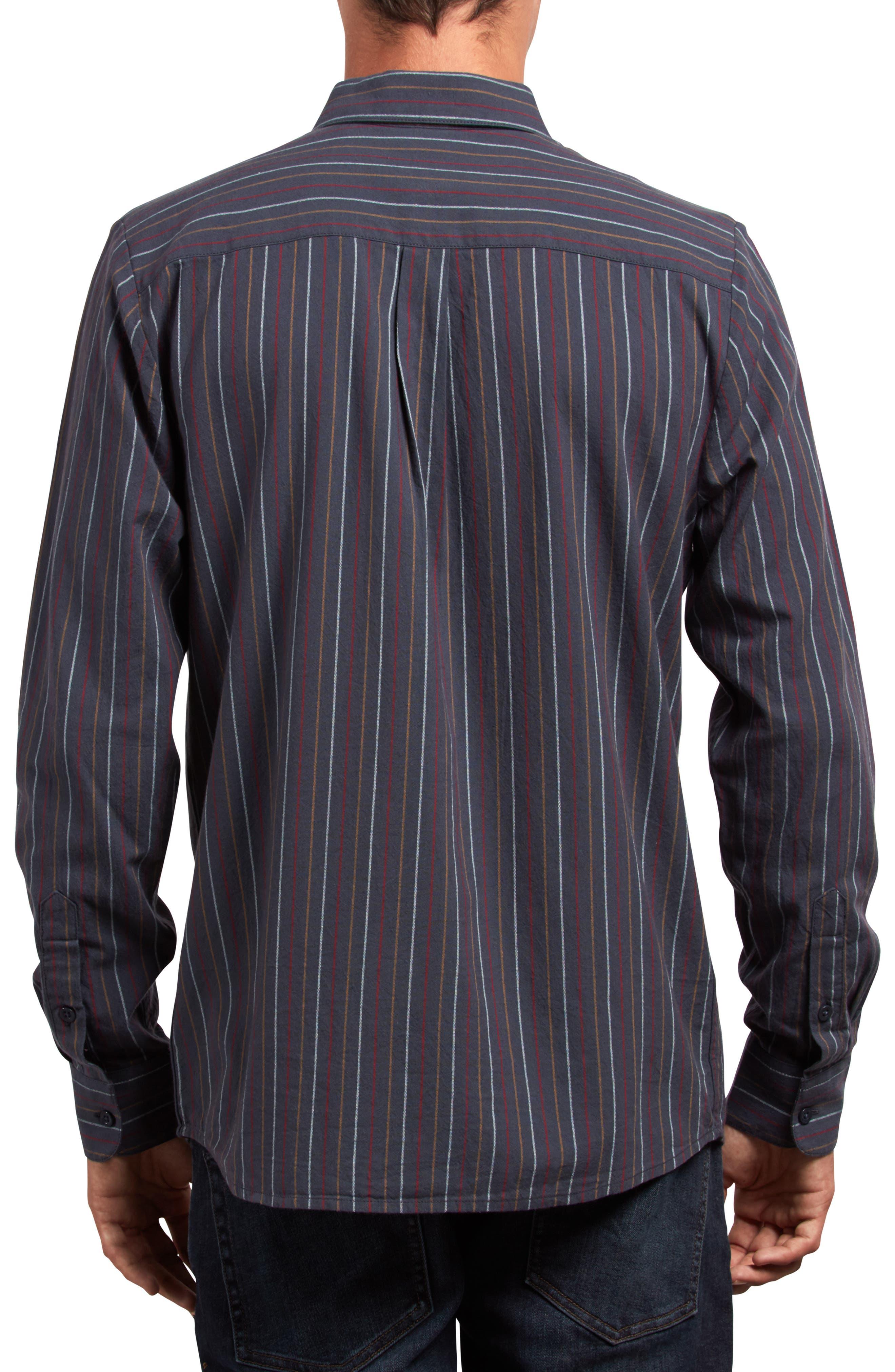 Toner Stripe Woven Shirt,                             Alternate thumbnail 2, color,                             MEDIUM BLUE