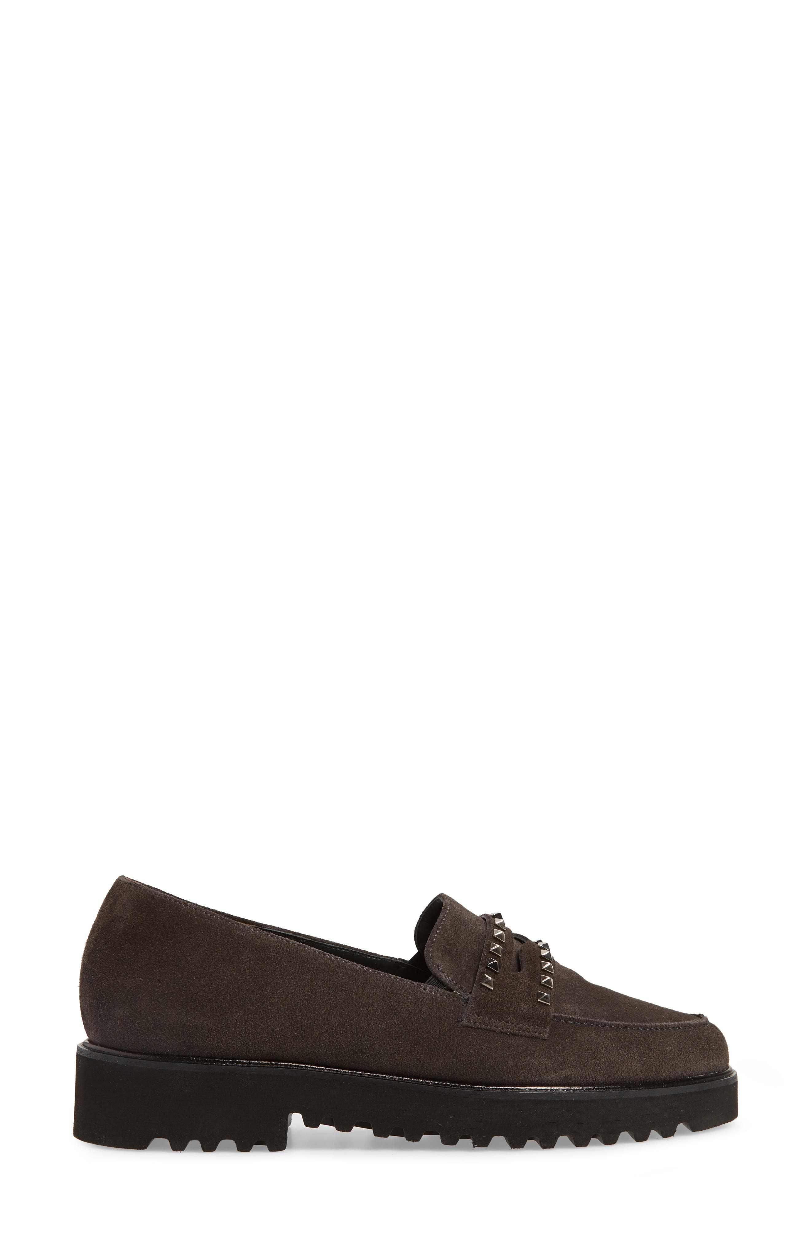 Sofia Loafer,                             Alternate thumbnail 3, color,                             ANTHRACITE SUEDE