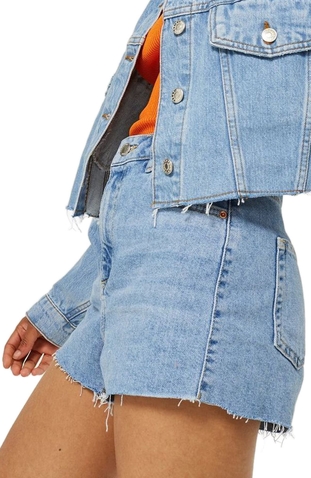 Denim Mom Shorts,                             Alternate thumbnail 3, color,                             420