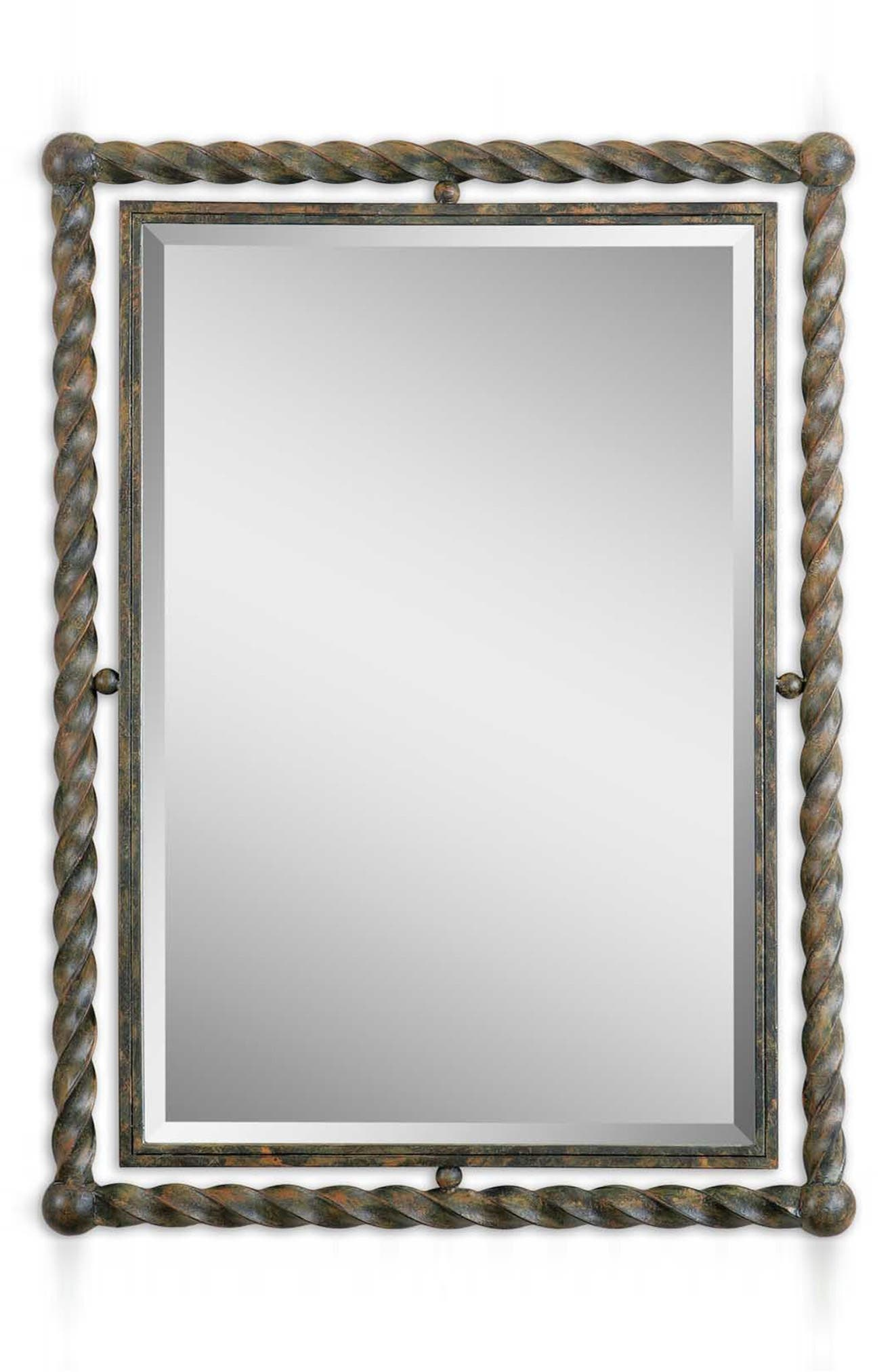 'Garrick' Wrought Iron Mirror,                             Alternate thumbnail 3, color,                             200