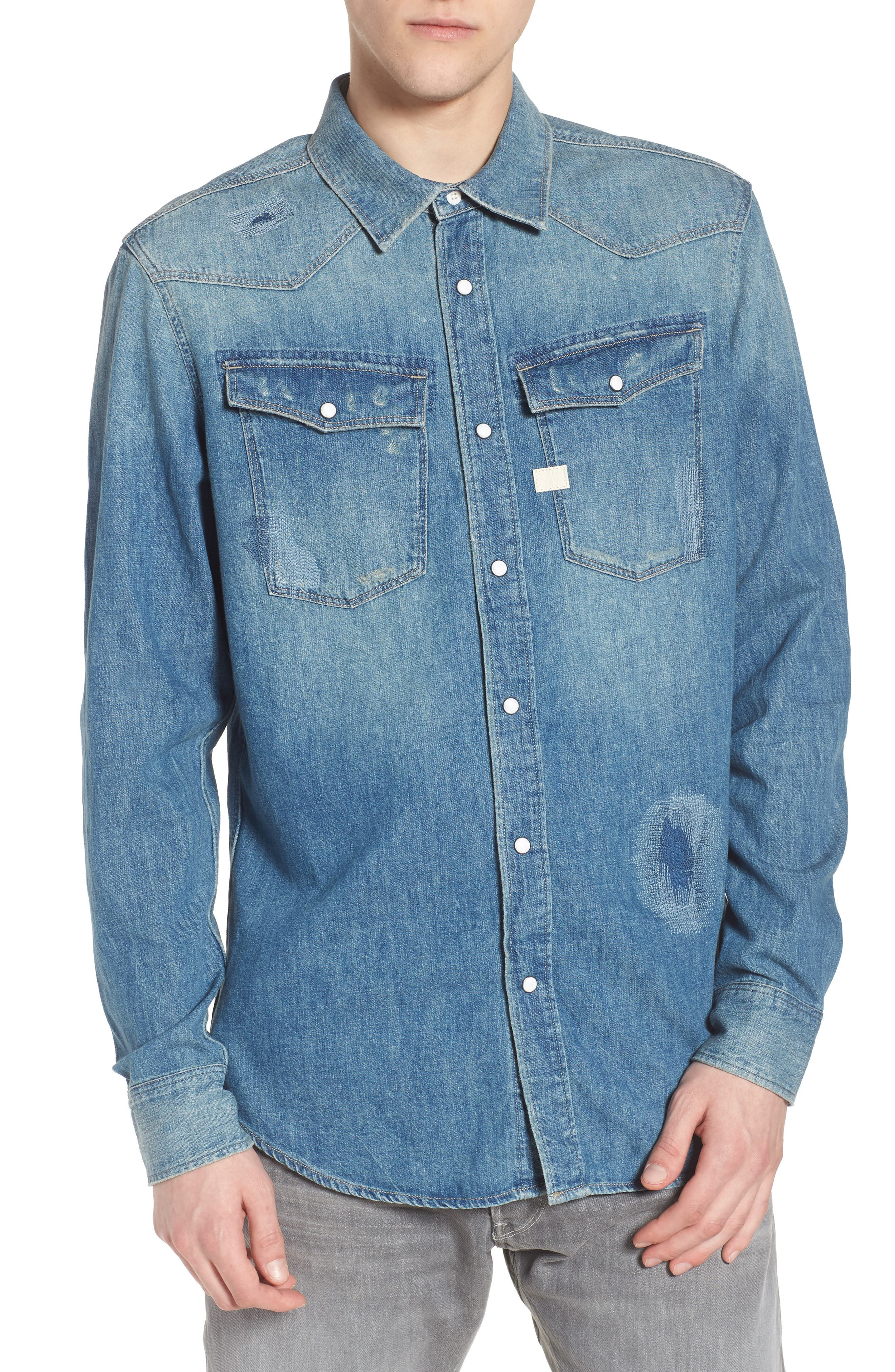 3301 Graft Denim Shirt,                         Main,                         color,