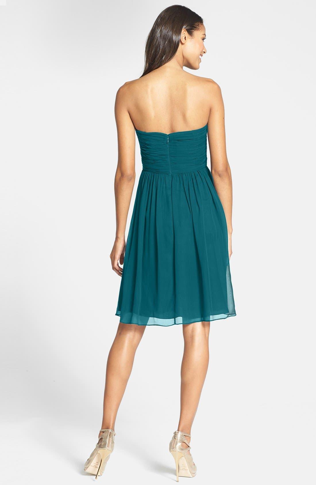 'Morgan' Strapless Silk Chiffon Dress,                             Alternate thumbnail 55, color,
