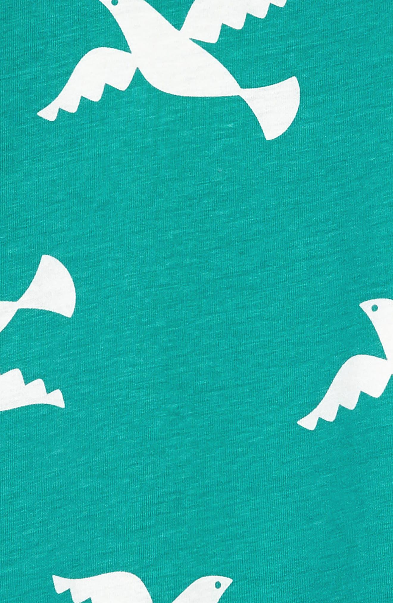 Birds in Flight Ruffle Dress,                             Alternate thumbnail 3, color,                             401
