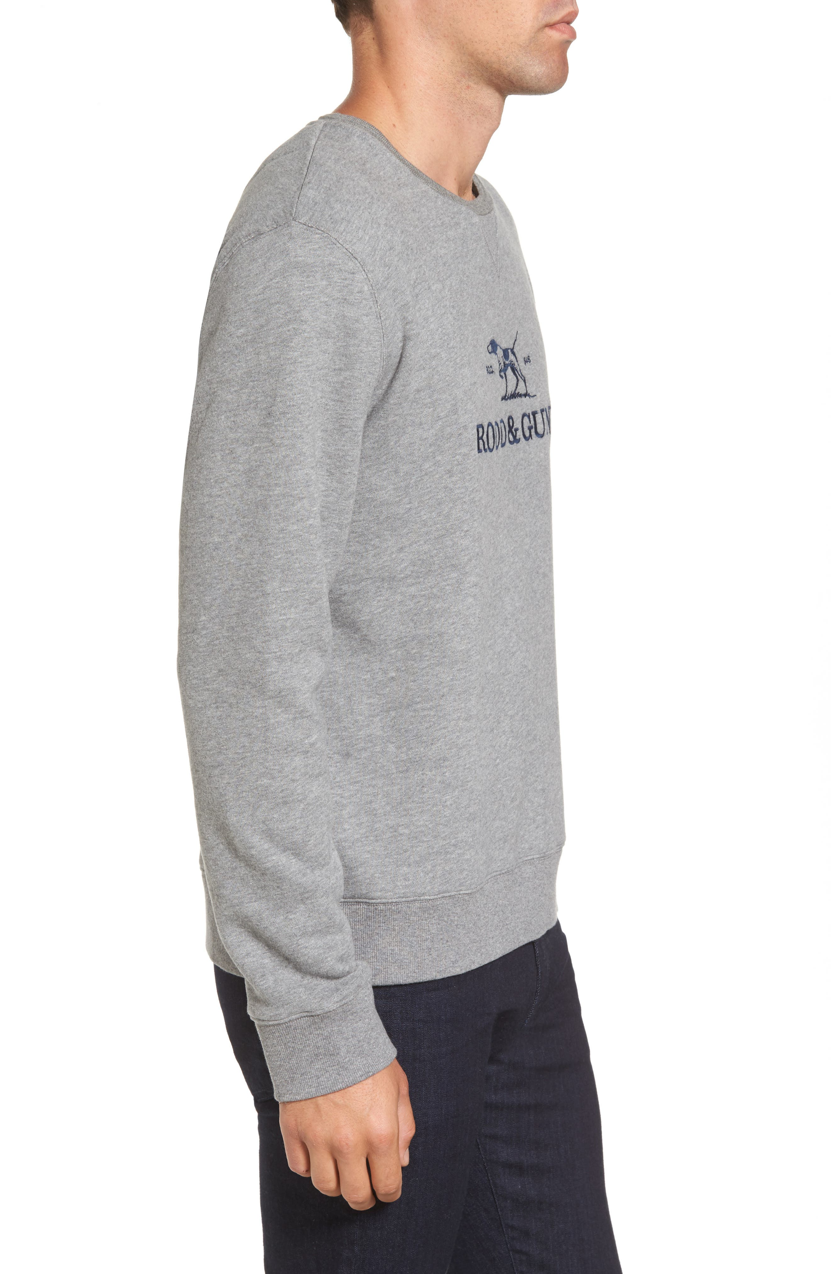 Auckland Logo Embroidered Sweatshirt,                             Alternate thumbnail 8, color,