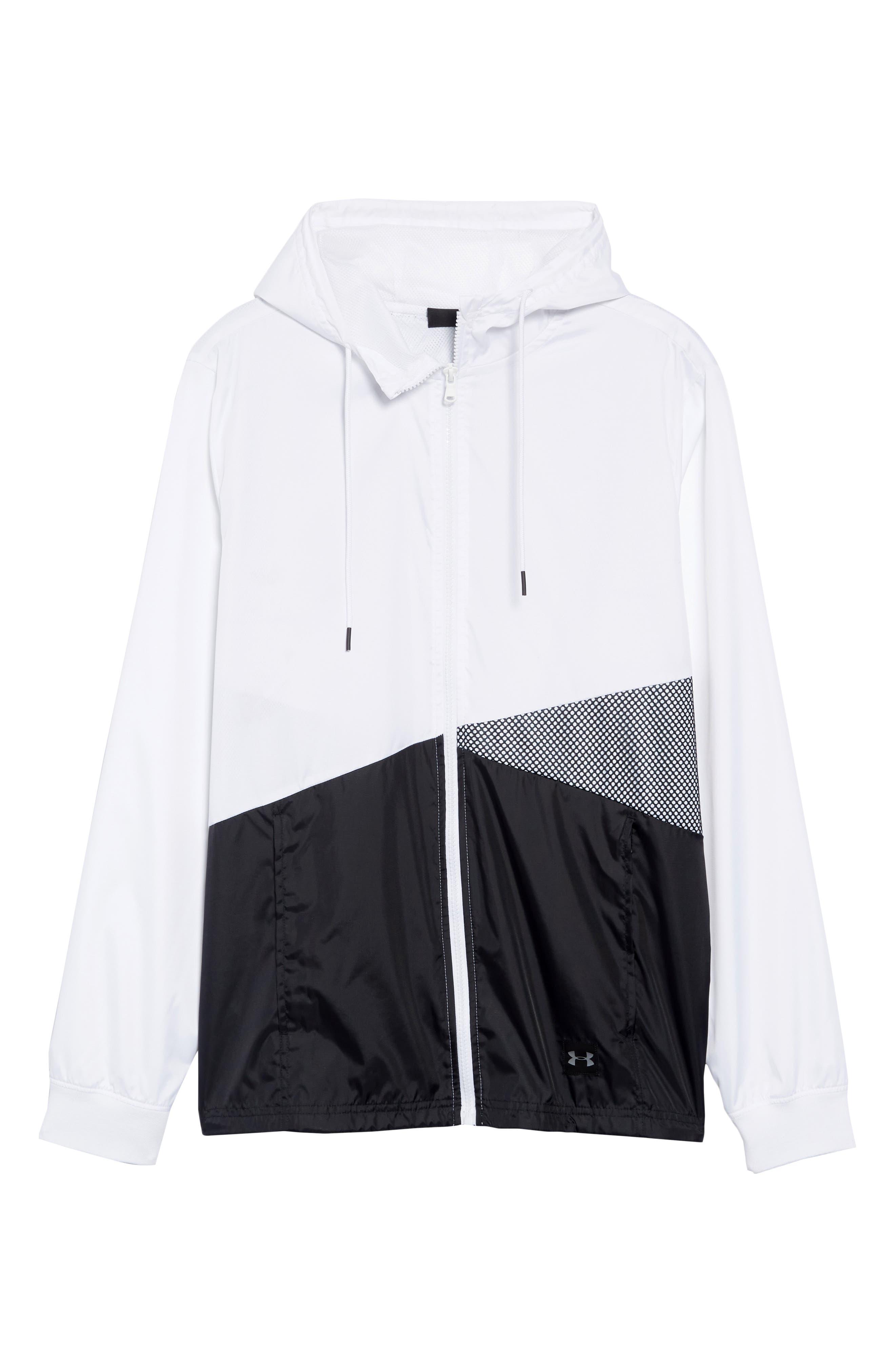 Sportstyle Regular Full Zip Jacket,                             Alternate thumbnail 6, color,                             WHITE