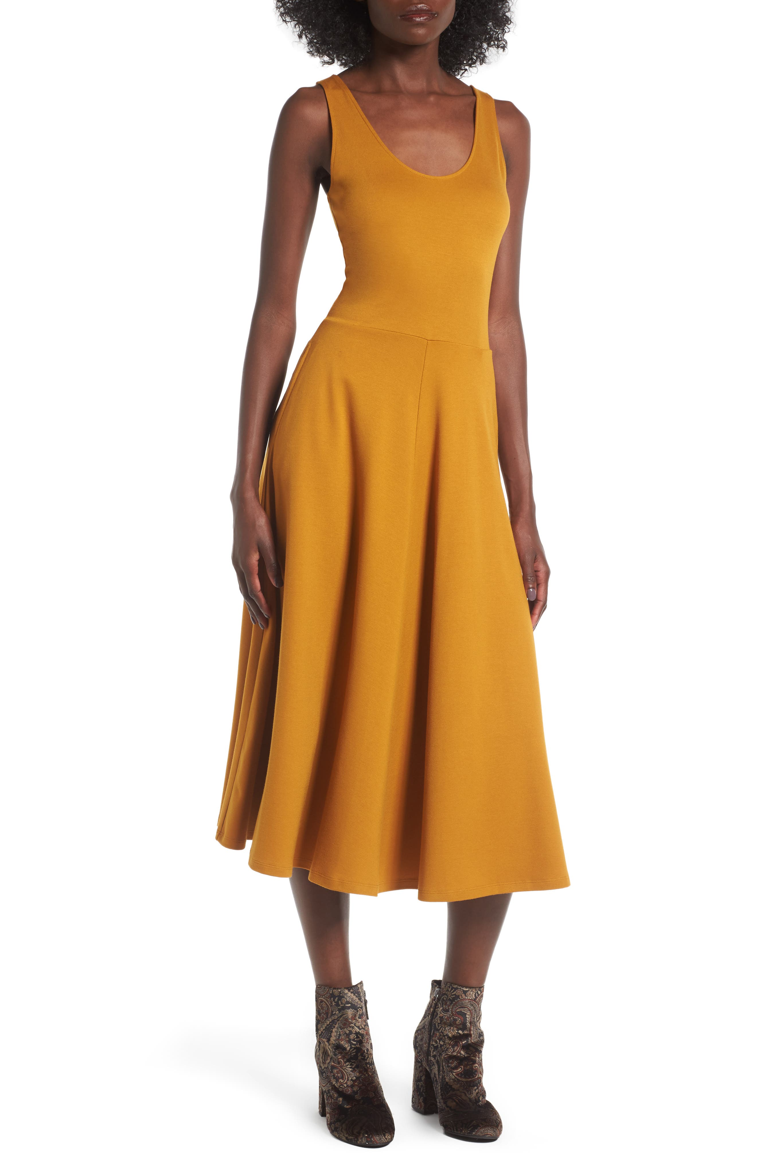 Stretch Knit Midi Dress,                             Main thumbnail 6, color,
