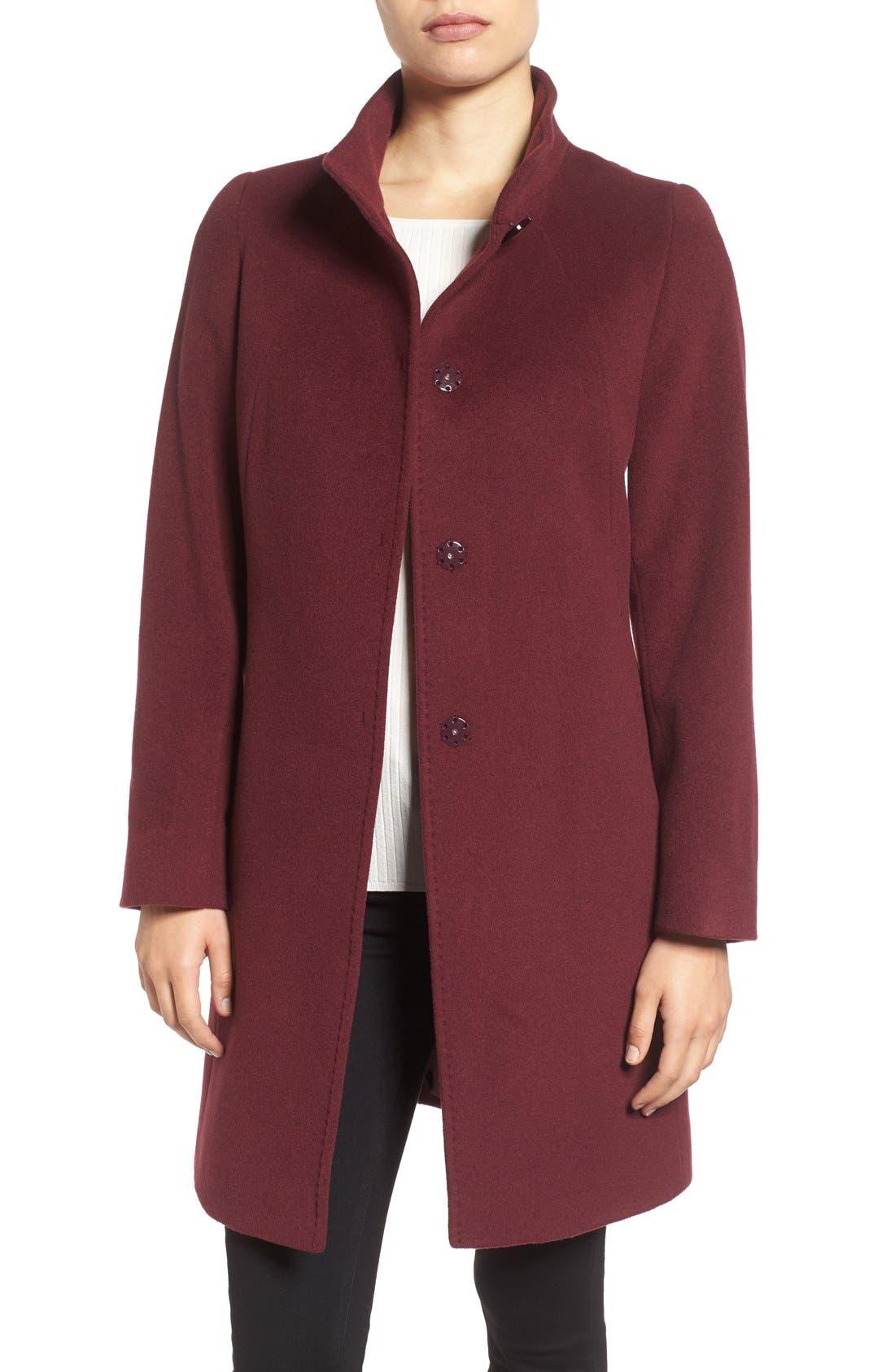 Cinzia Rocca Stand Collar Walking Coat,                             Main thumbnail 3, color,