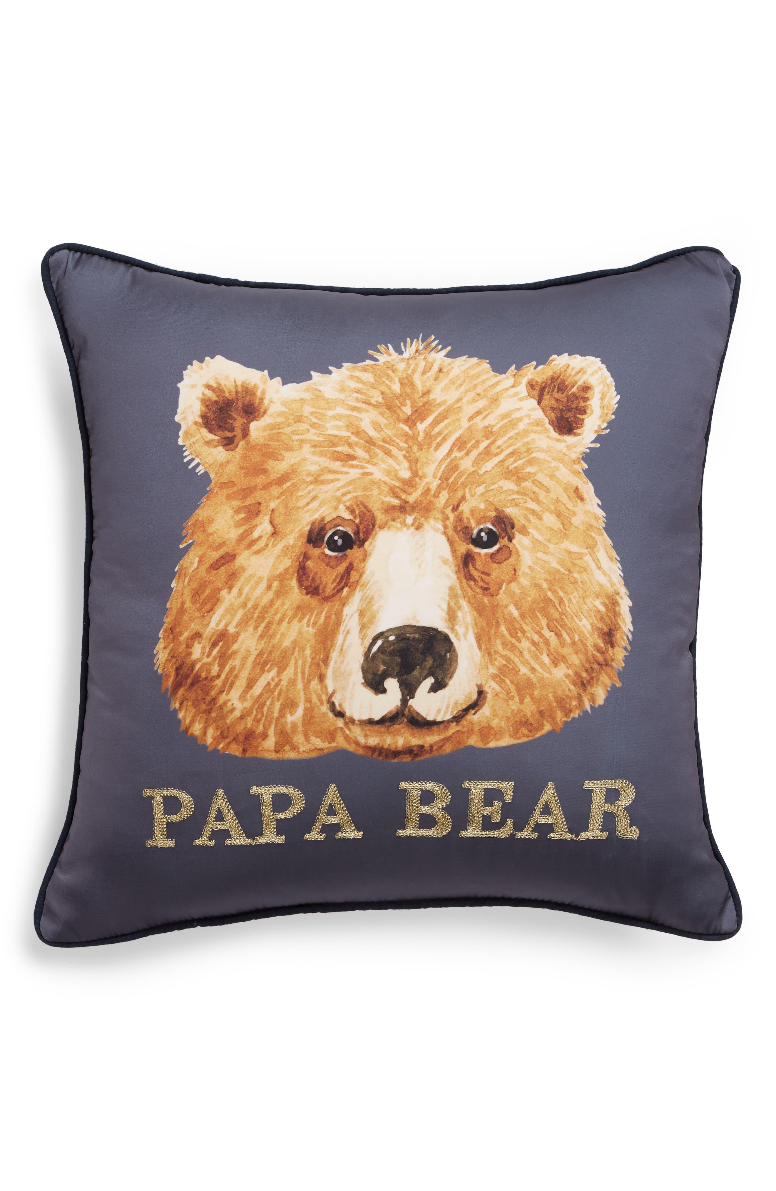 Papa Bear Accent Pillow,                             Main thumbnail 1, color,                             400