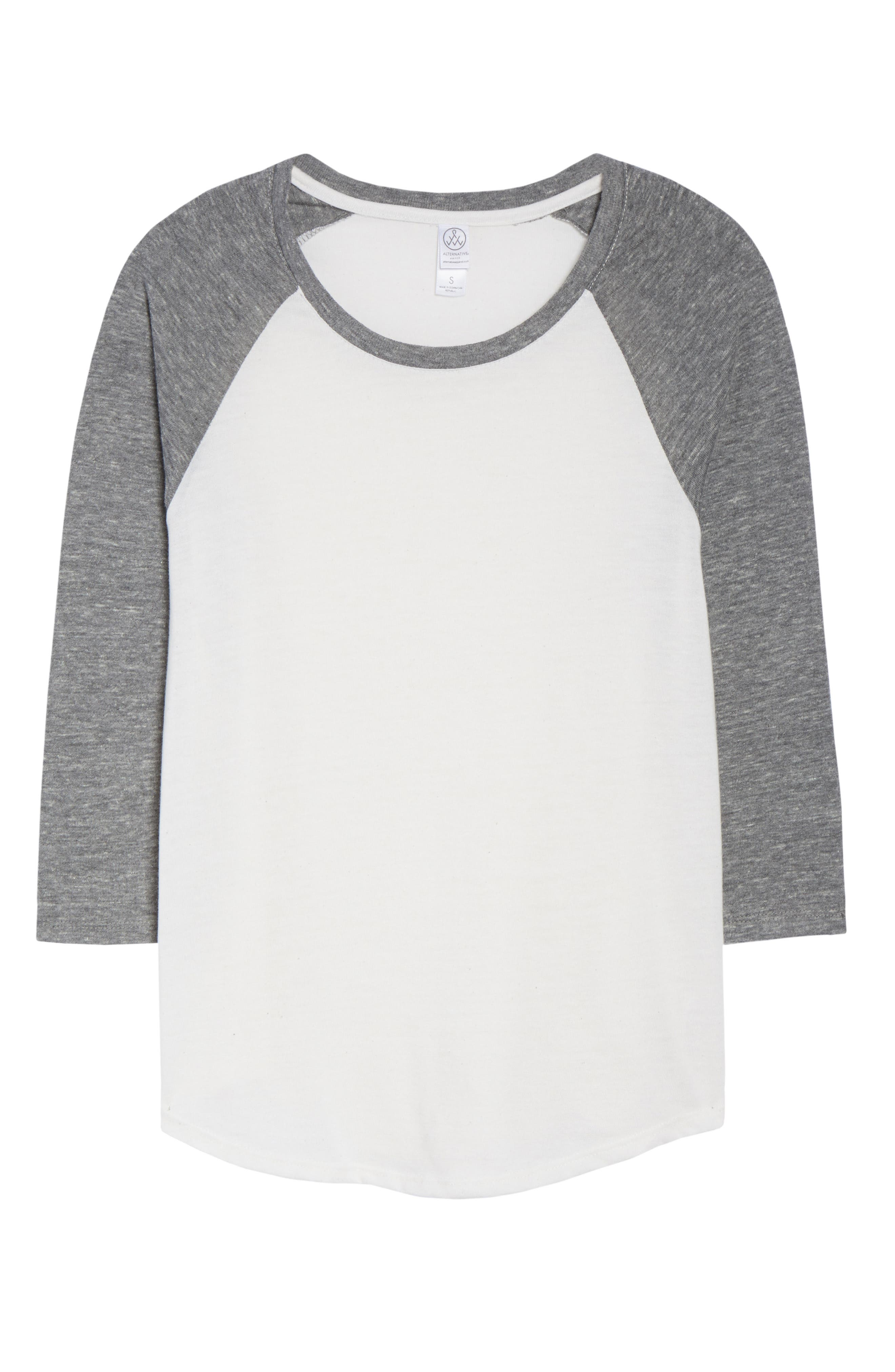 Baseball Tee,                             Alternate thumbnail 6, color,                             ECO IVORY
