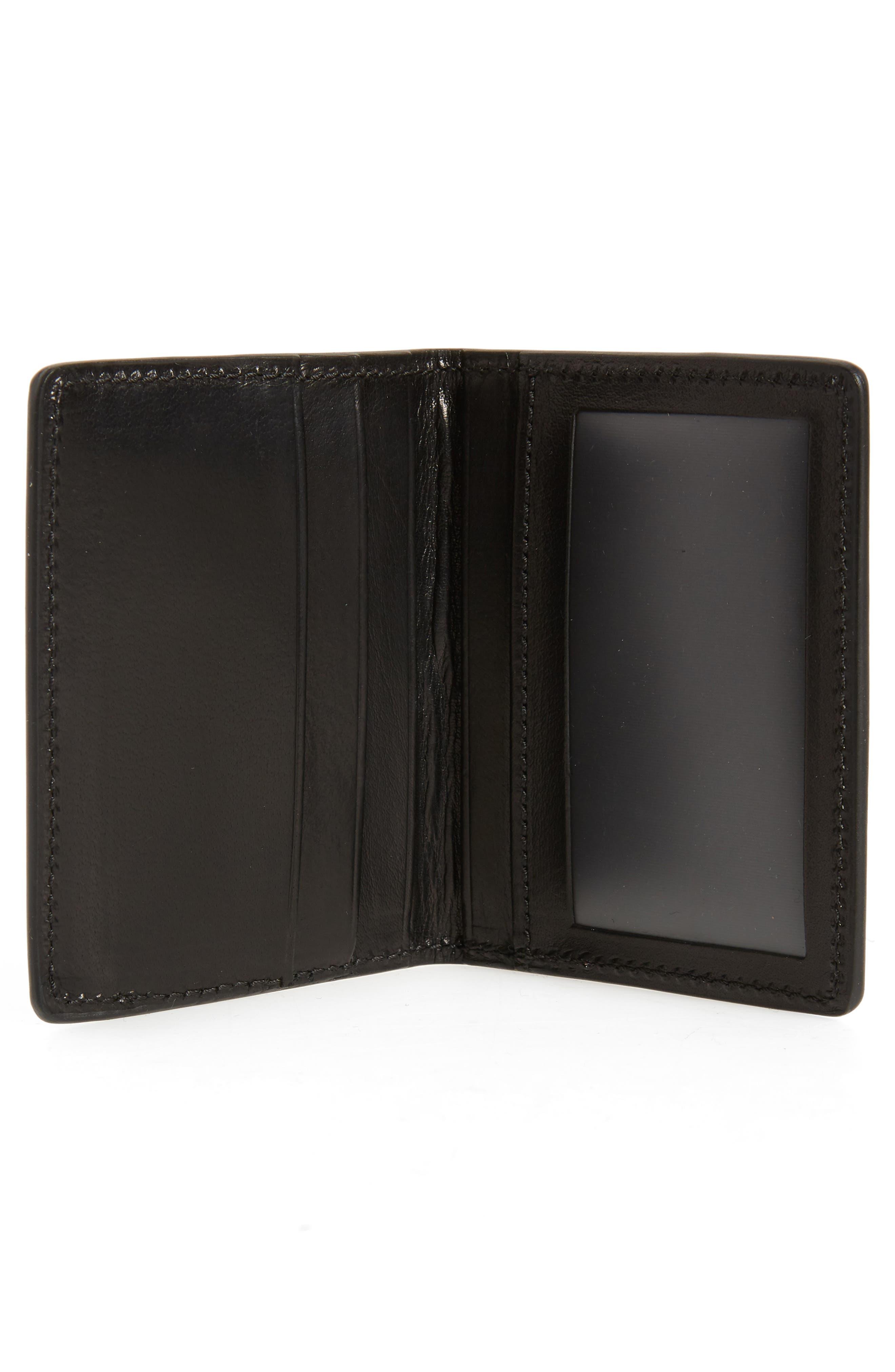 Outlaw Folding Card Case,                             Alternate thumbnail 2, color,                             BLACK