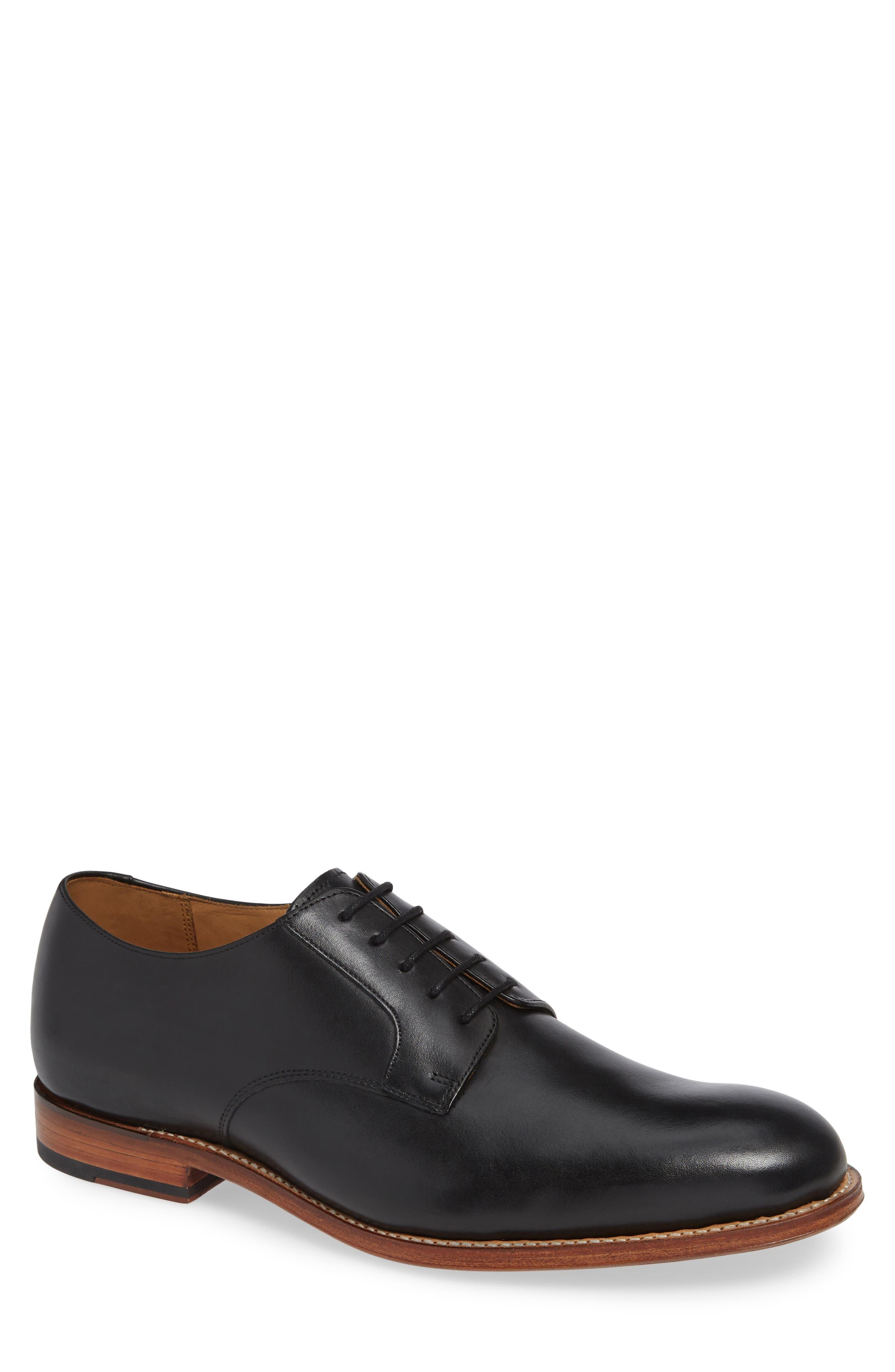Liam Plain Toe Derby,                         Main,                         color, BLACK