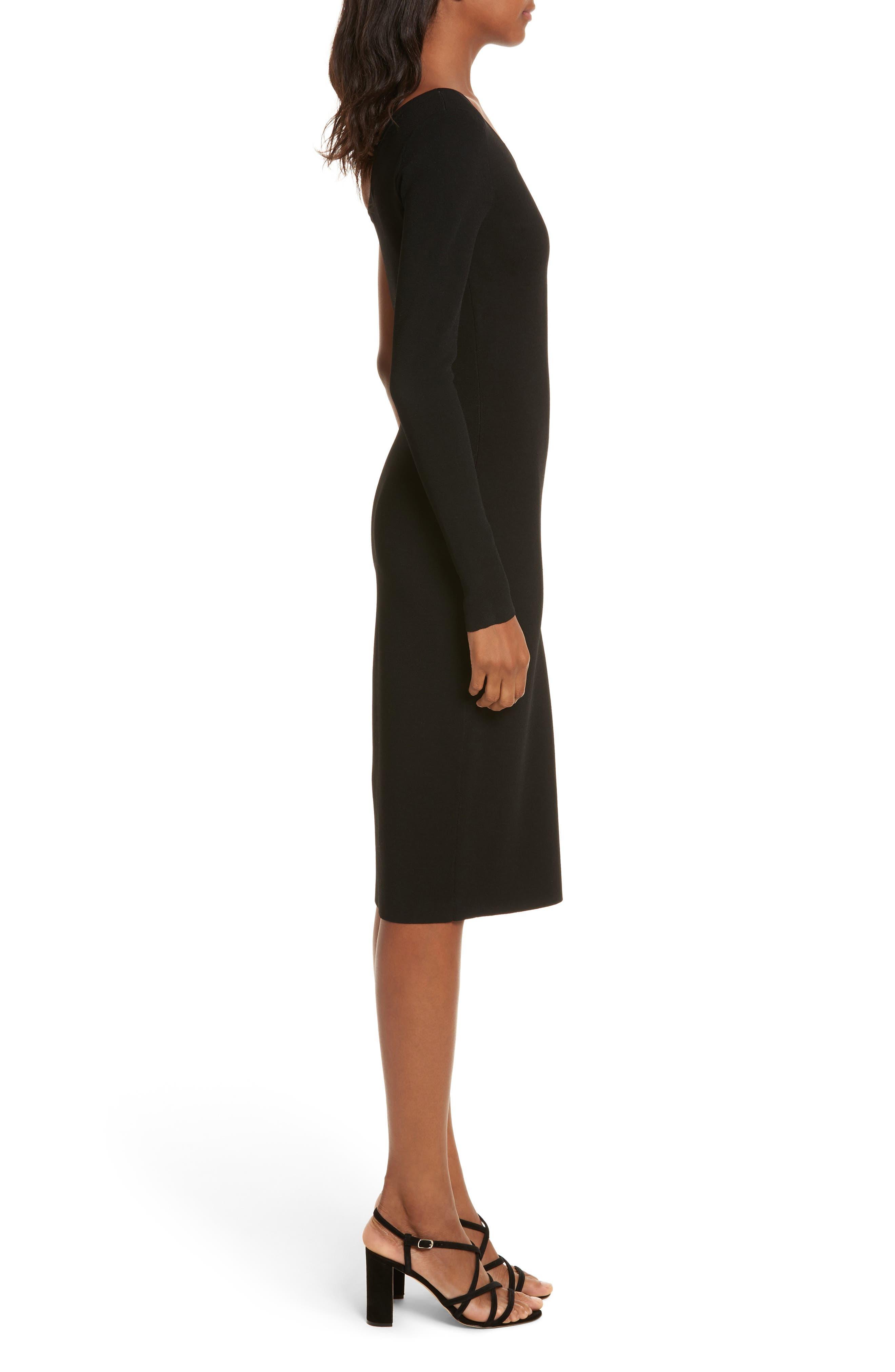 Diane von Furstenberg Knit One-Shoulder Midi Dress,                             Alternate thumbnail 6, color,