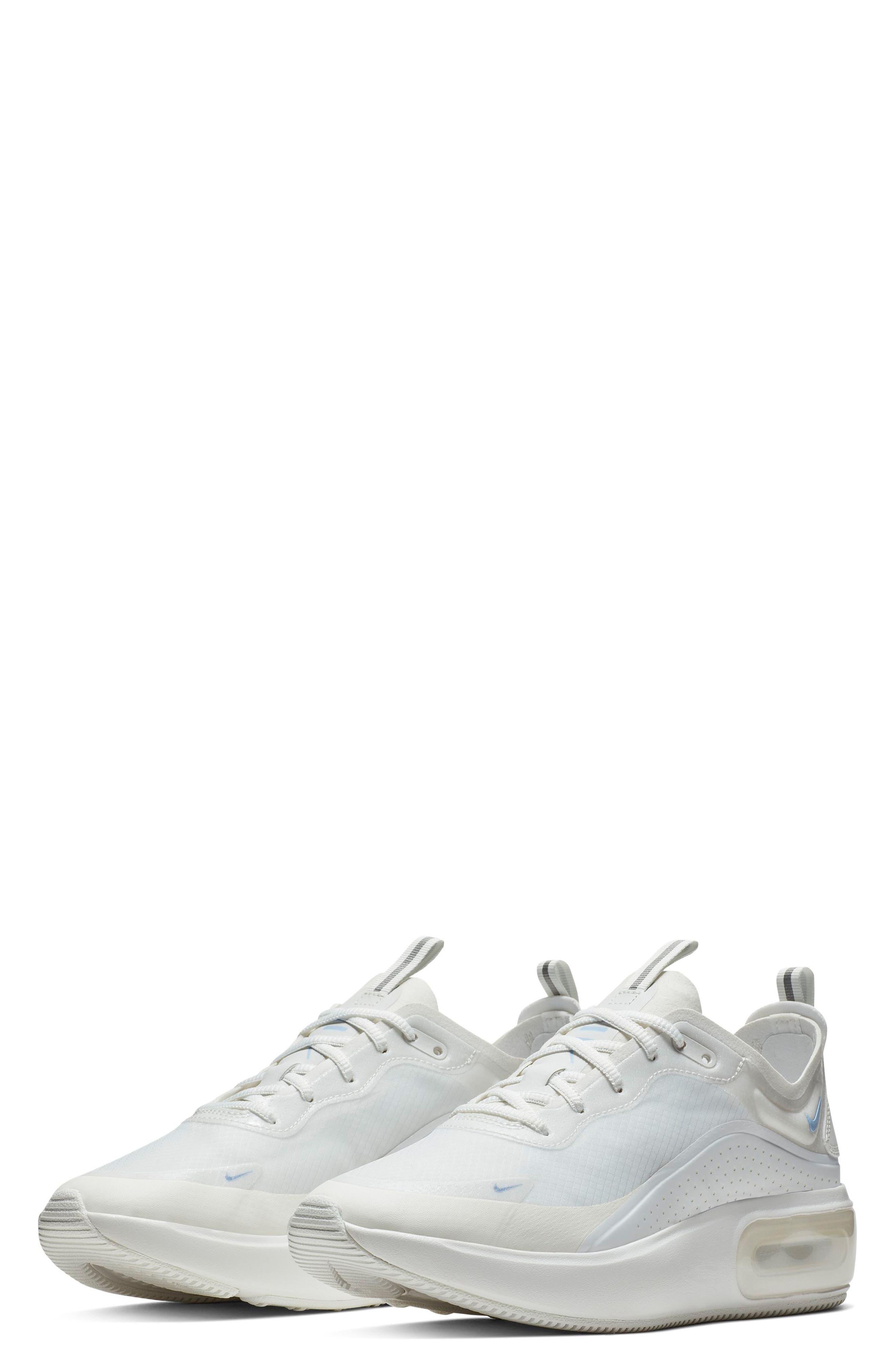 Air Max DIA SE Running Shoe,                             Main thumbnail 1, color,                             WHITE/ ALUMINUM/ WHITE