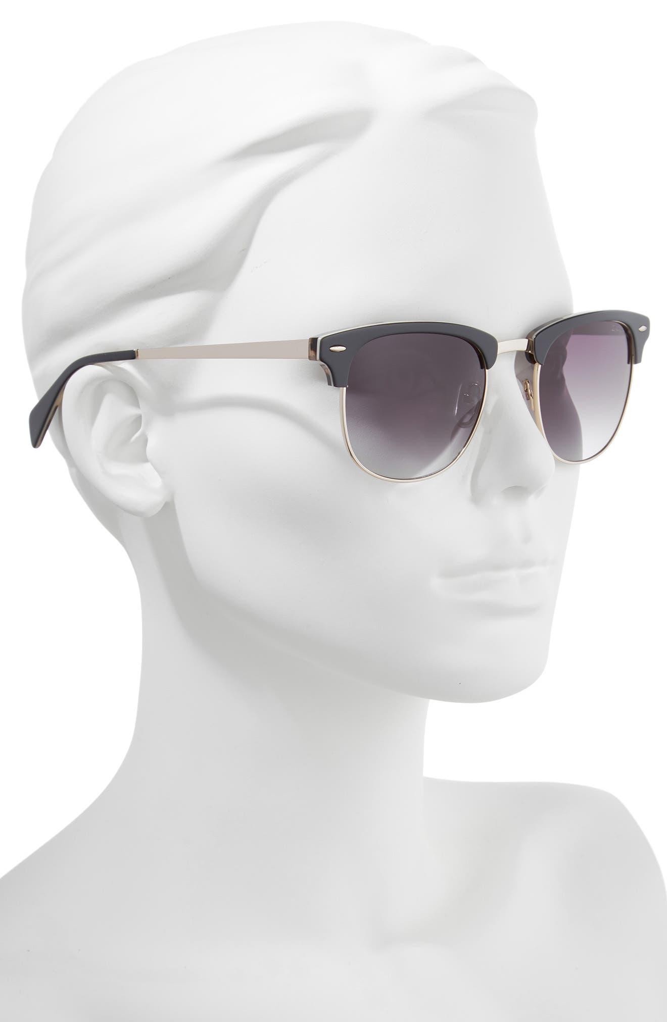 55mm Sunglasses,                             Alternate thumbnail 2, color,                             GREY
