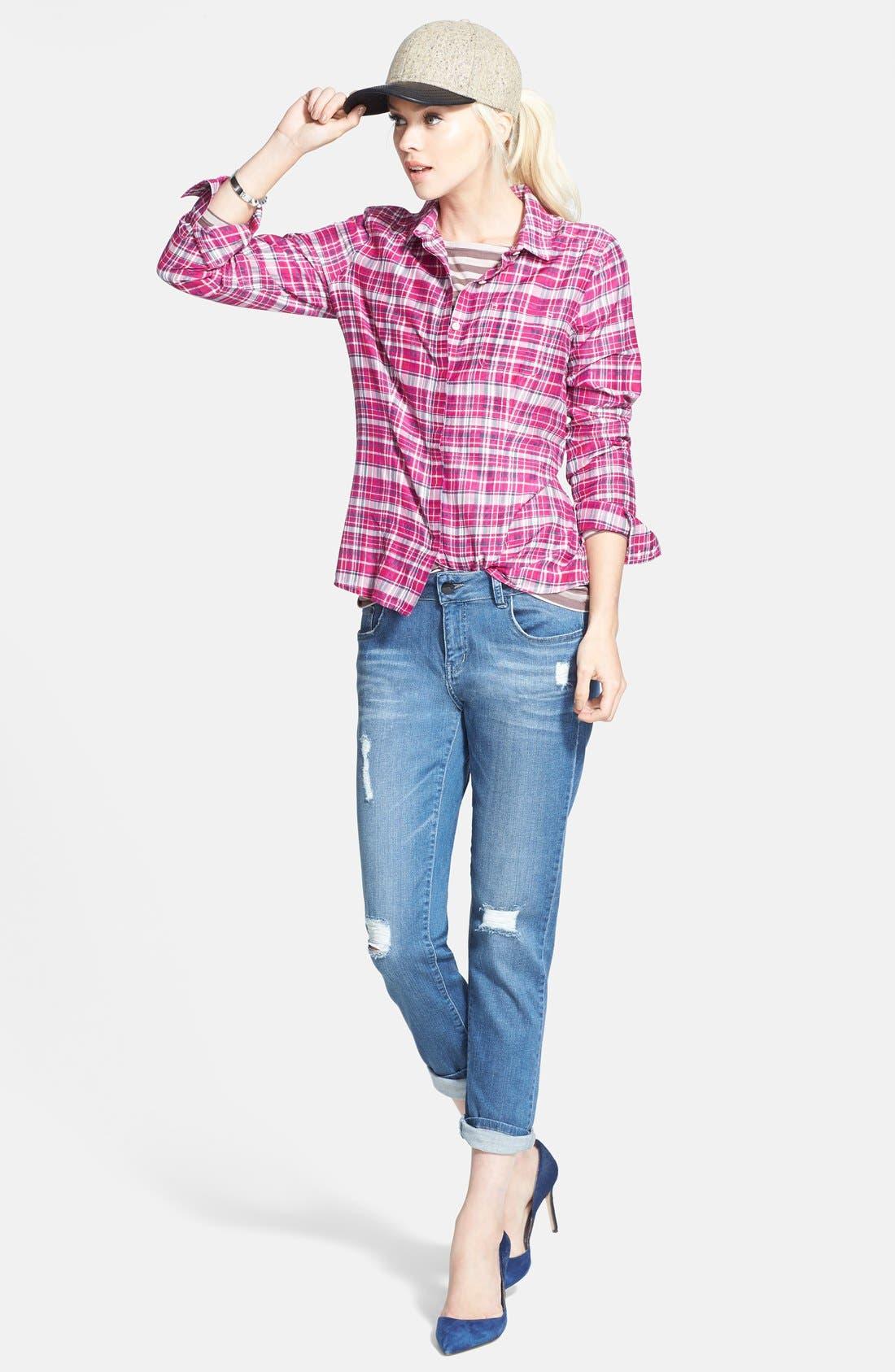 Cotton & Silk Shirt,                             Alternate thumbnail 80, color,