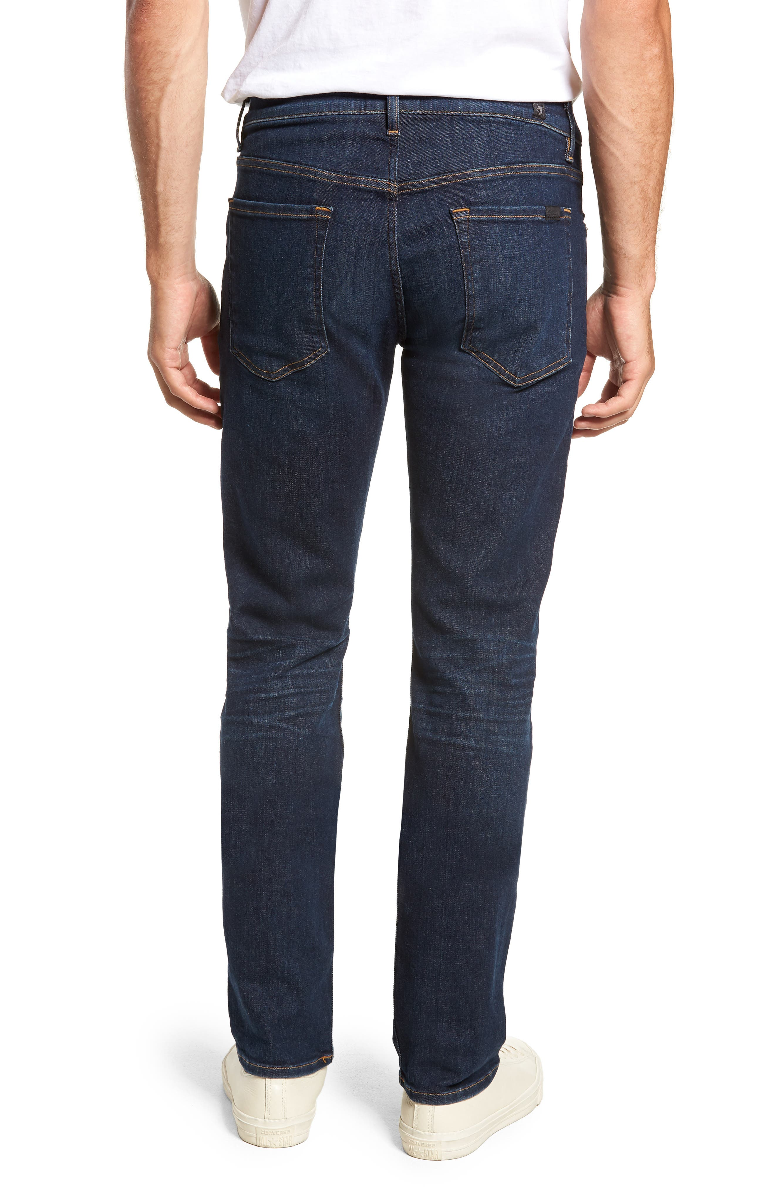 The Straight Luxe Sport Straight Leg Jeans,                             Alternate thumbnail 2, color,                             404