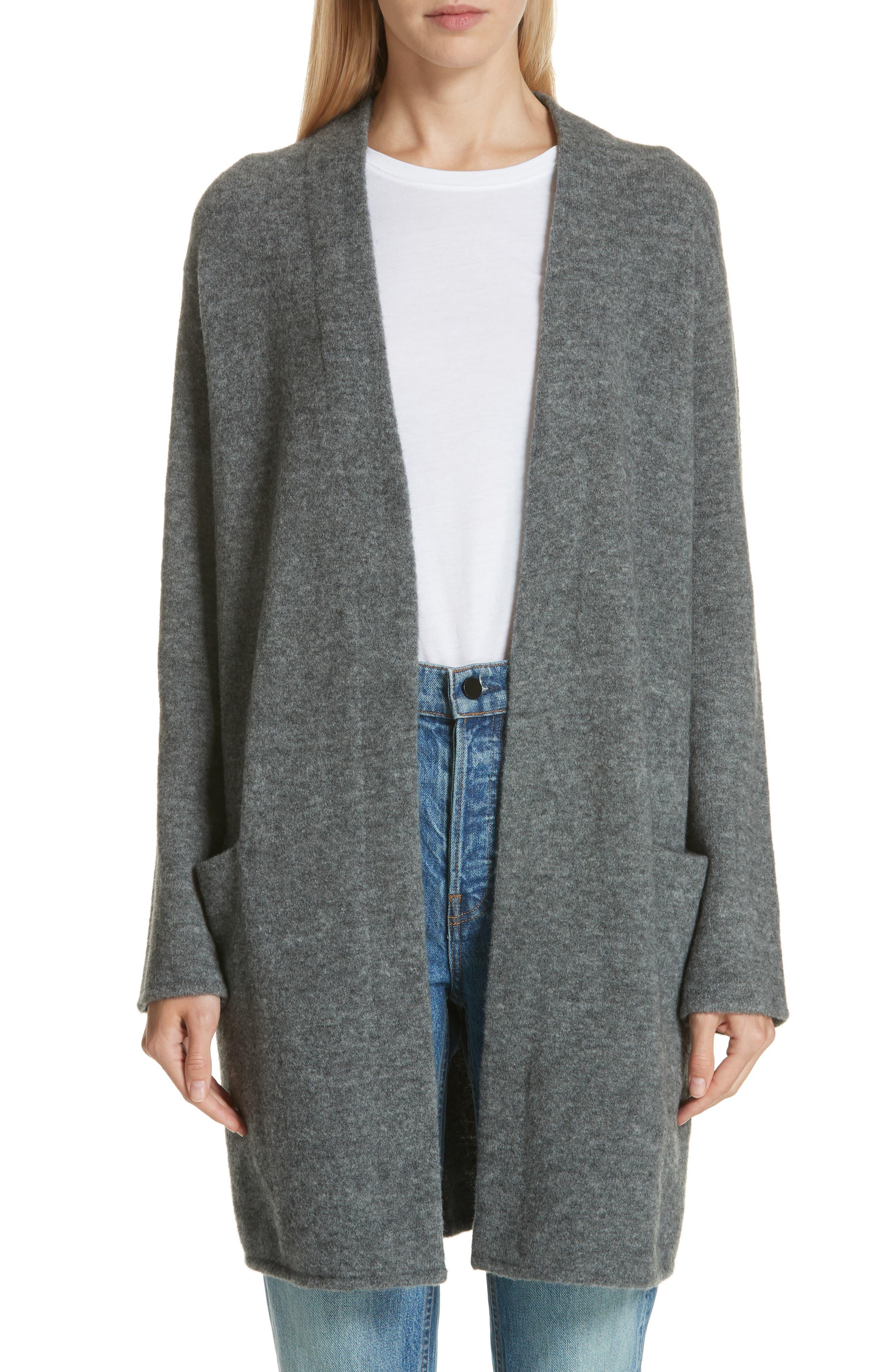 JENNI KAYNE Open Sweater Coat in Grey