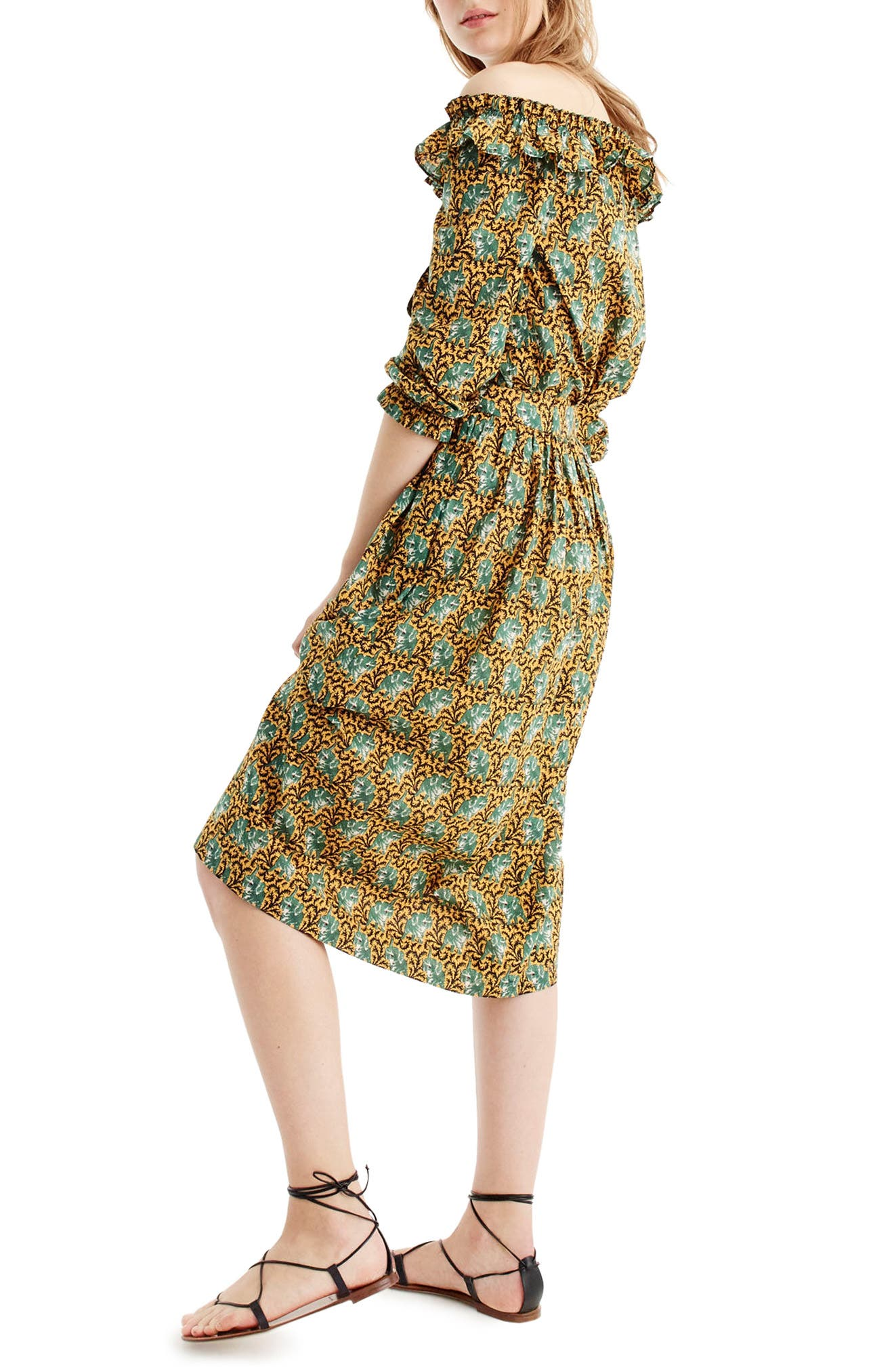 Elephant Print Skirt,                             Alternate thumbnail 2, color,