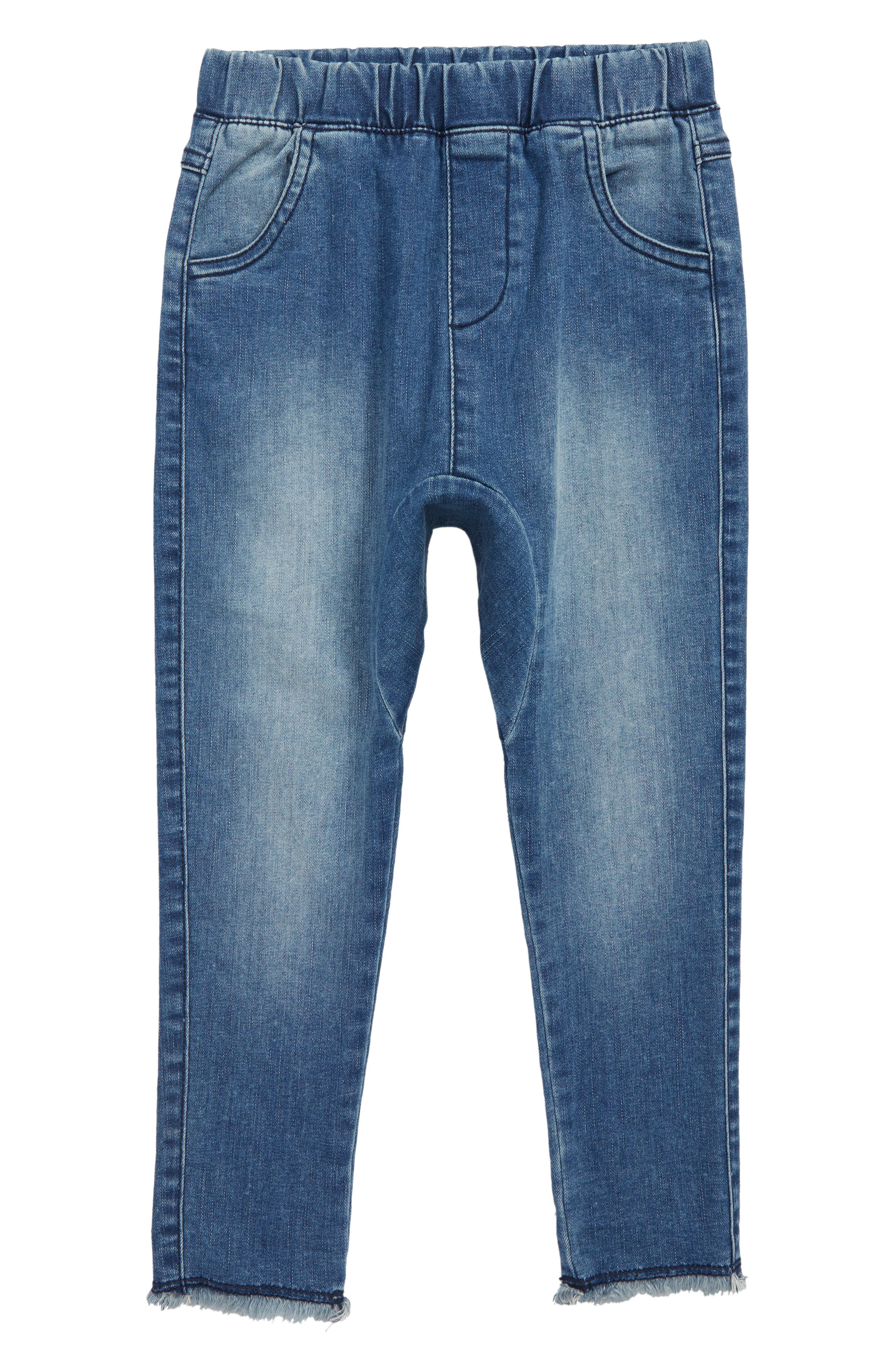 Shadow Patch Jeans,                         Main,                         color, BLUE SHINE WASH
