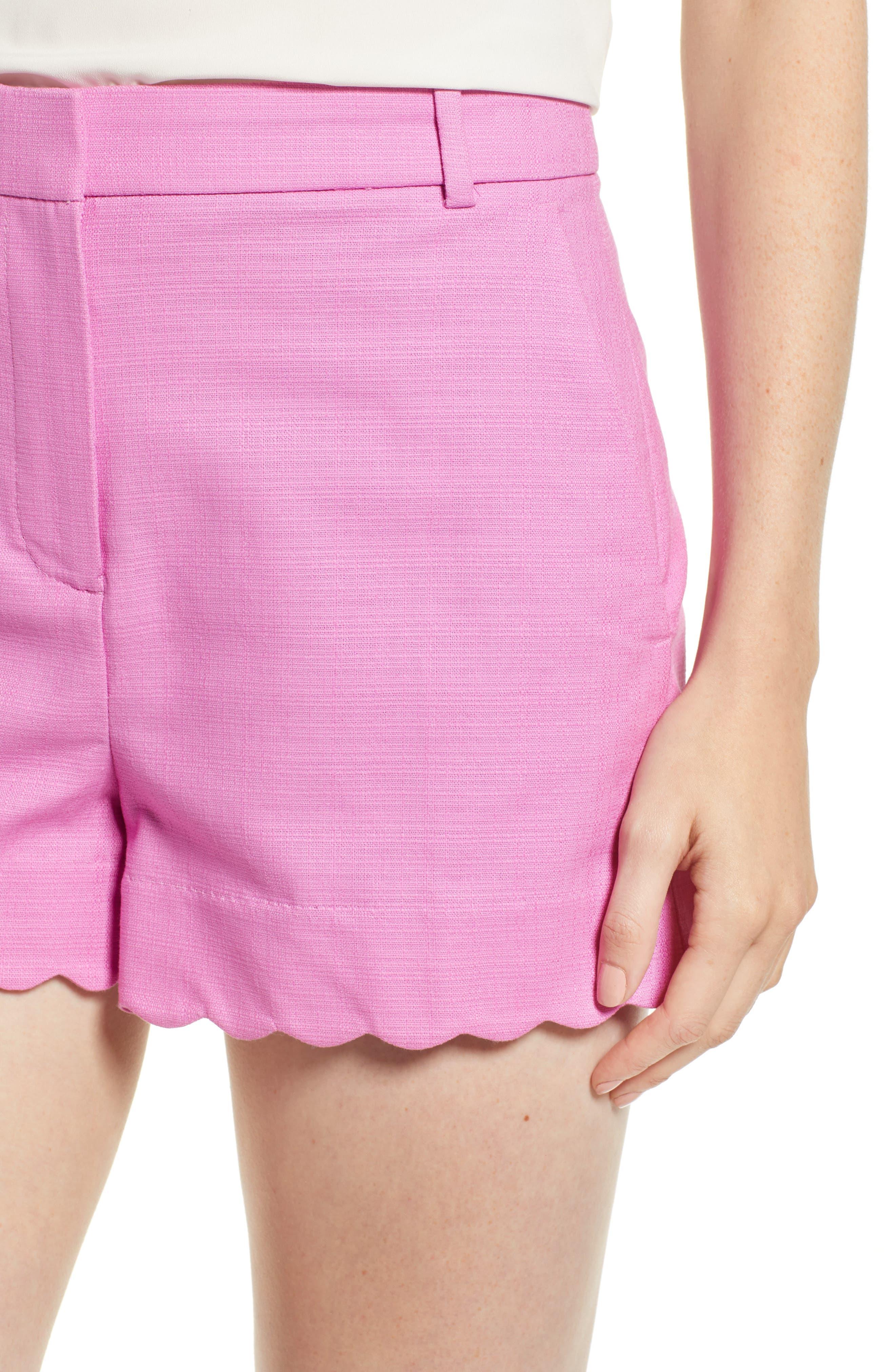 Fiesta Scallop Hem Stretch Cotton Shorts,                             Alternate thumbnail 10, color,