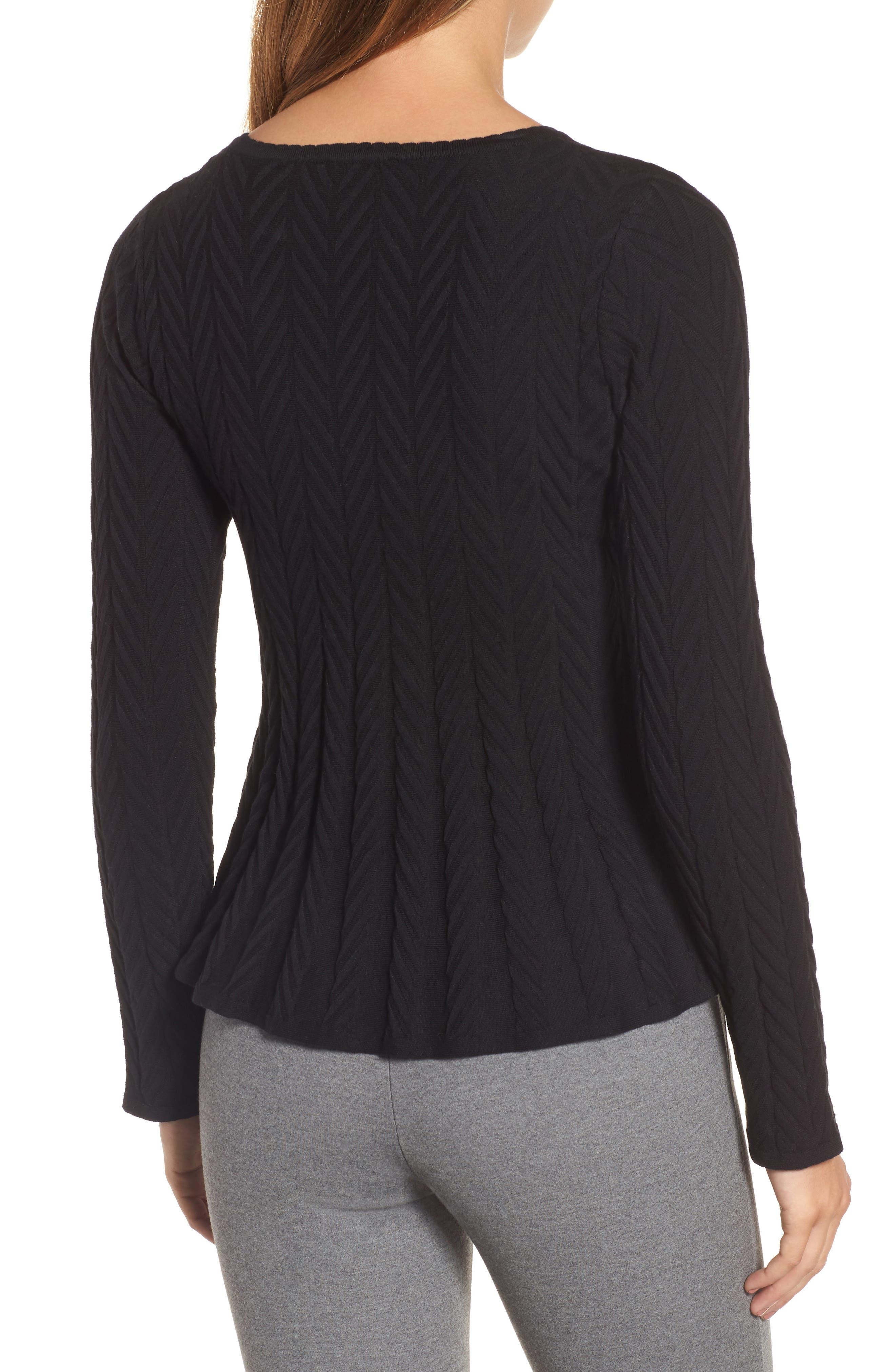 Chevron Stitch Sweater,                             Alternate thumbnail 2, color,                             010