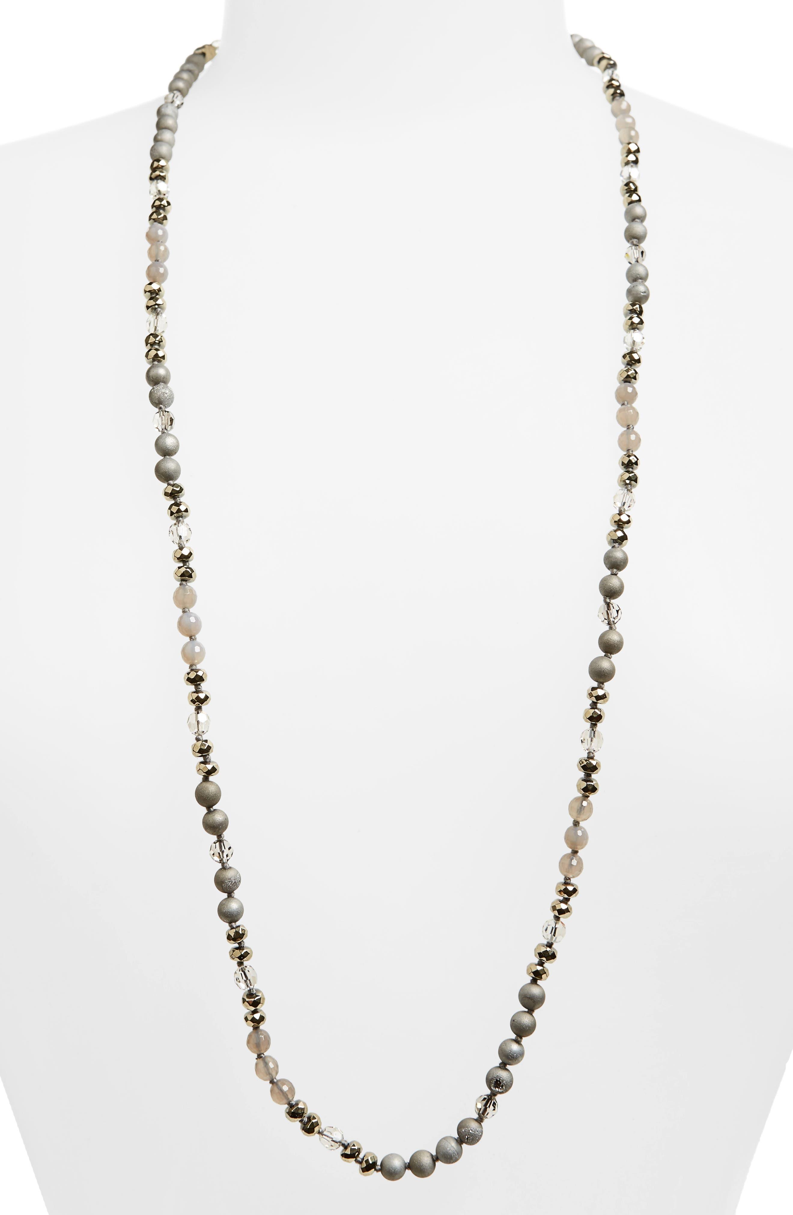 Semiprecious Stone & Crystal Necklace,                             Main thumbnail 2, color,