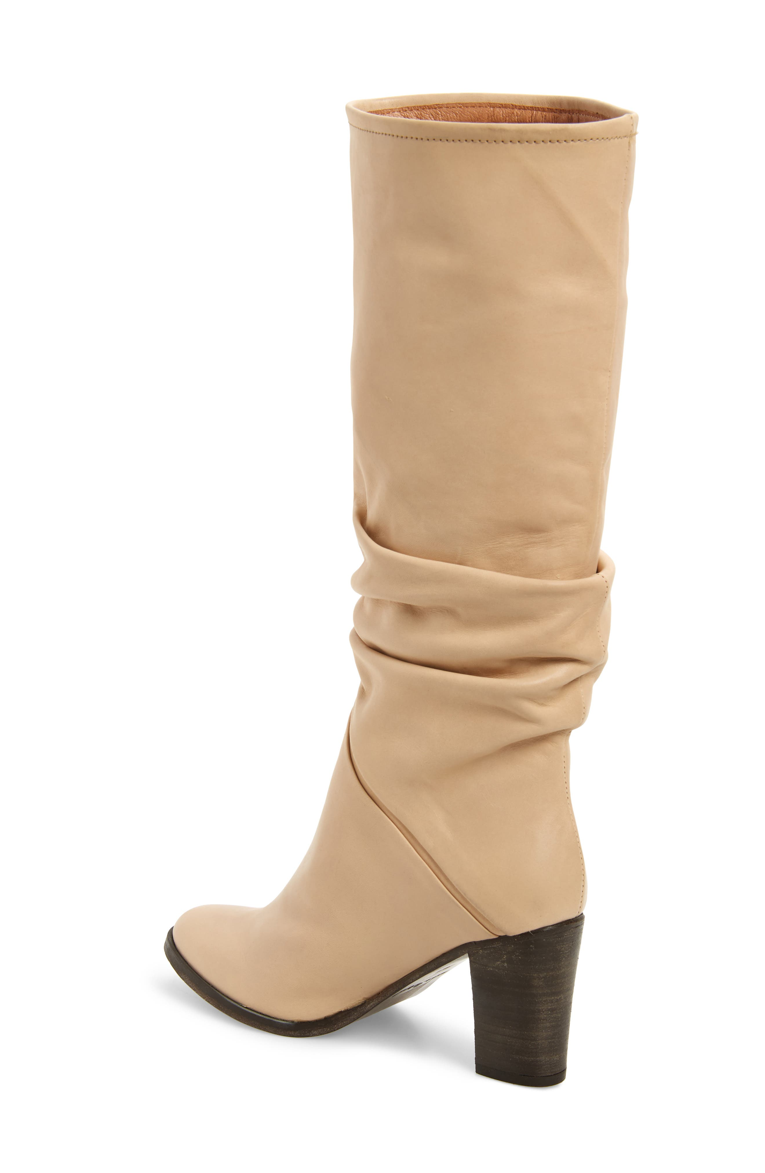 Tennison Knee High Boot,                             Alternate thumbnail 2, color,                             BEIGE LEATHER