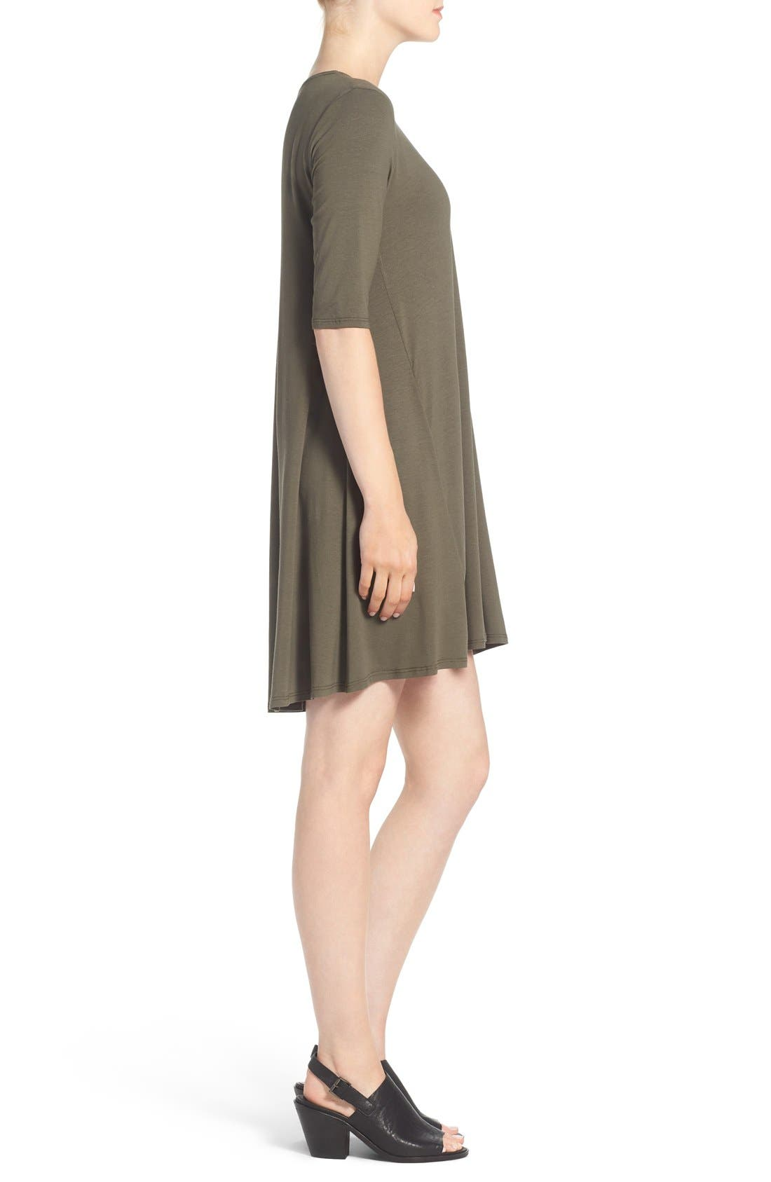 Lightweight Jersey Round Neck Tunic,                             Alternate thumbnail 27, color,