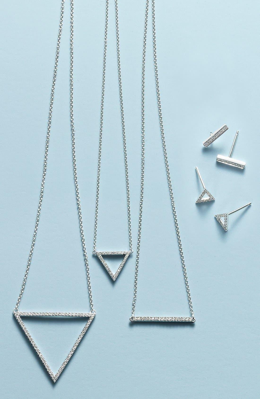 Prism Diamond Bar Stud Earrings,                             Alternate thumbnail 2, color,                             YELLOW GOLD