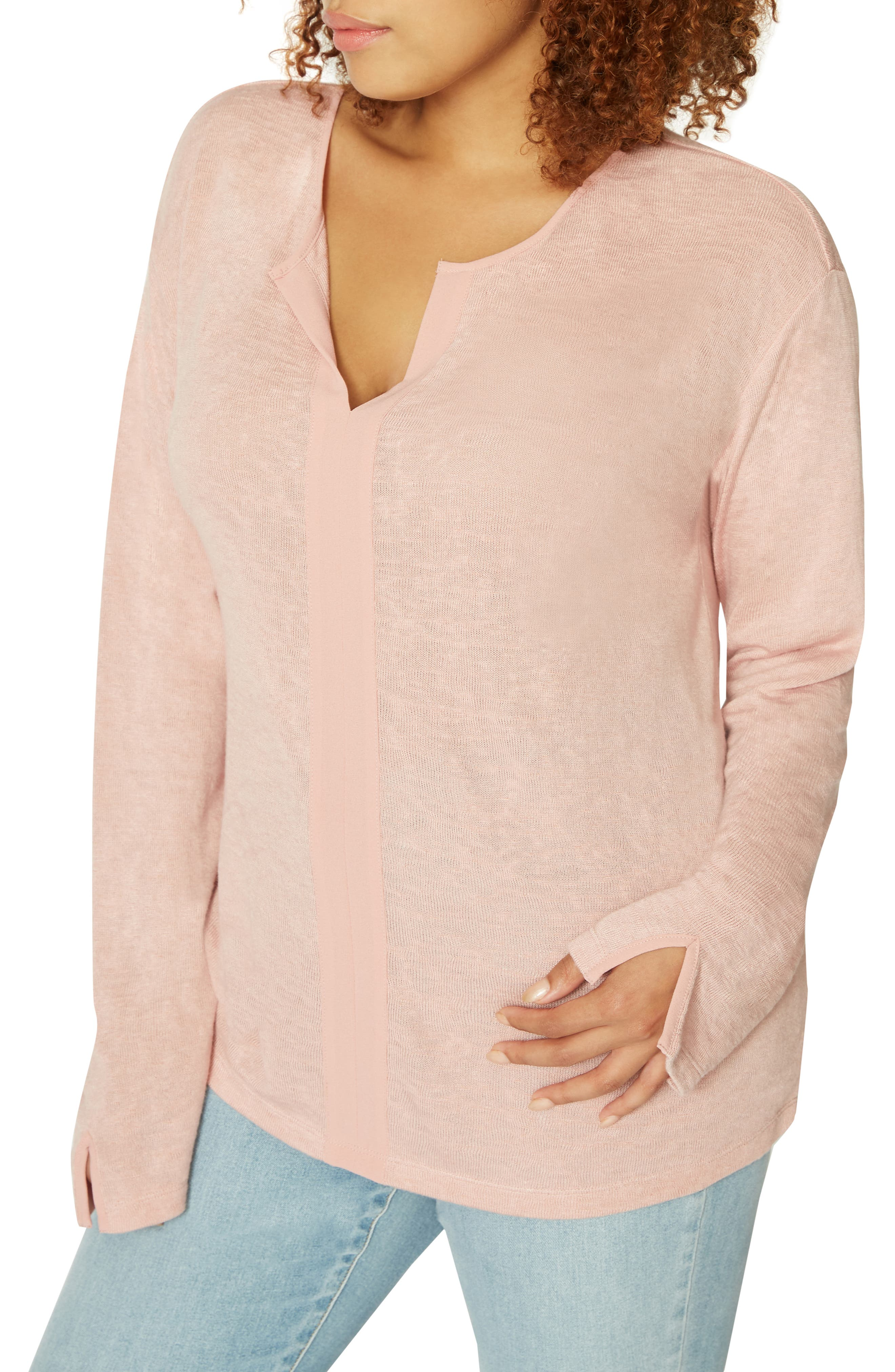 Sienna Mix Top,                             Alternate thumbnail 7, color,                             PINK SCOTCH