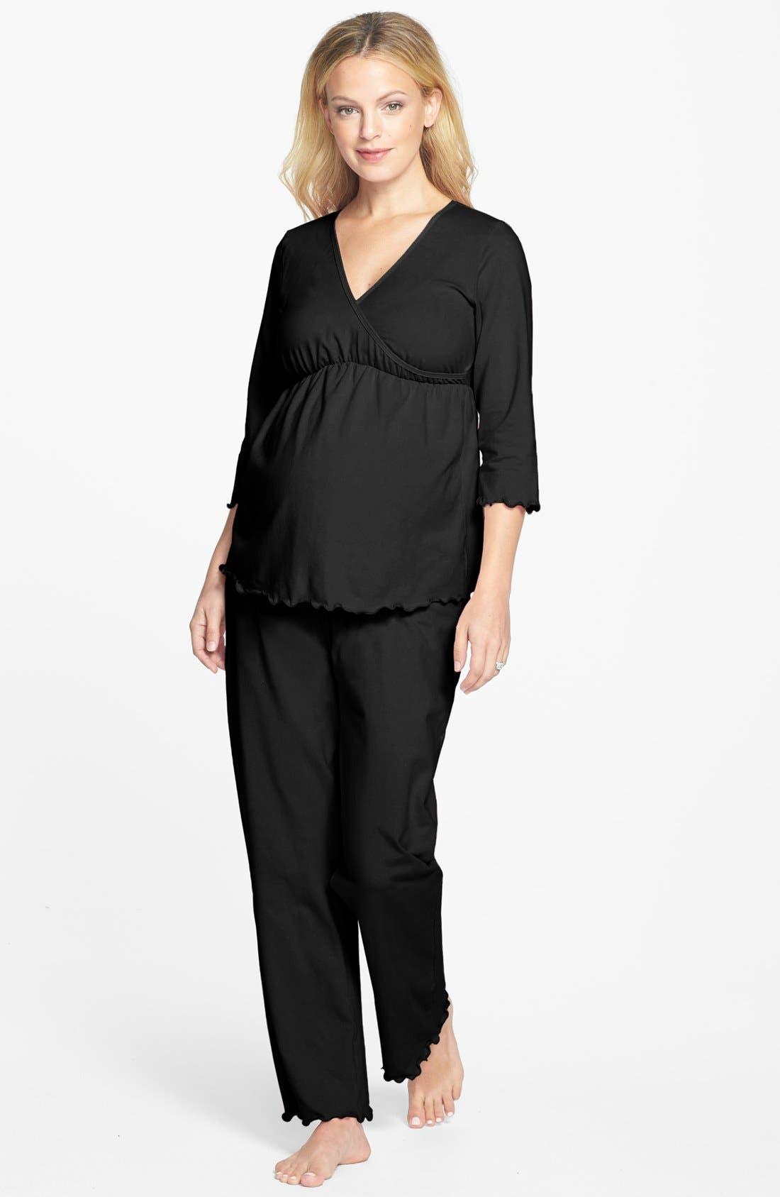 Maternity/Nursing Pajamas, Main, color, 001