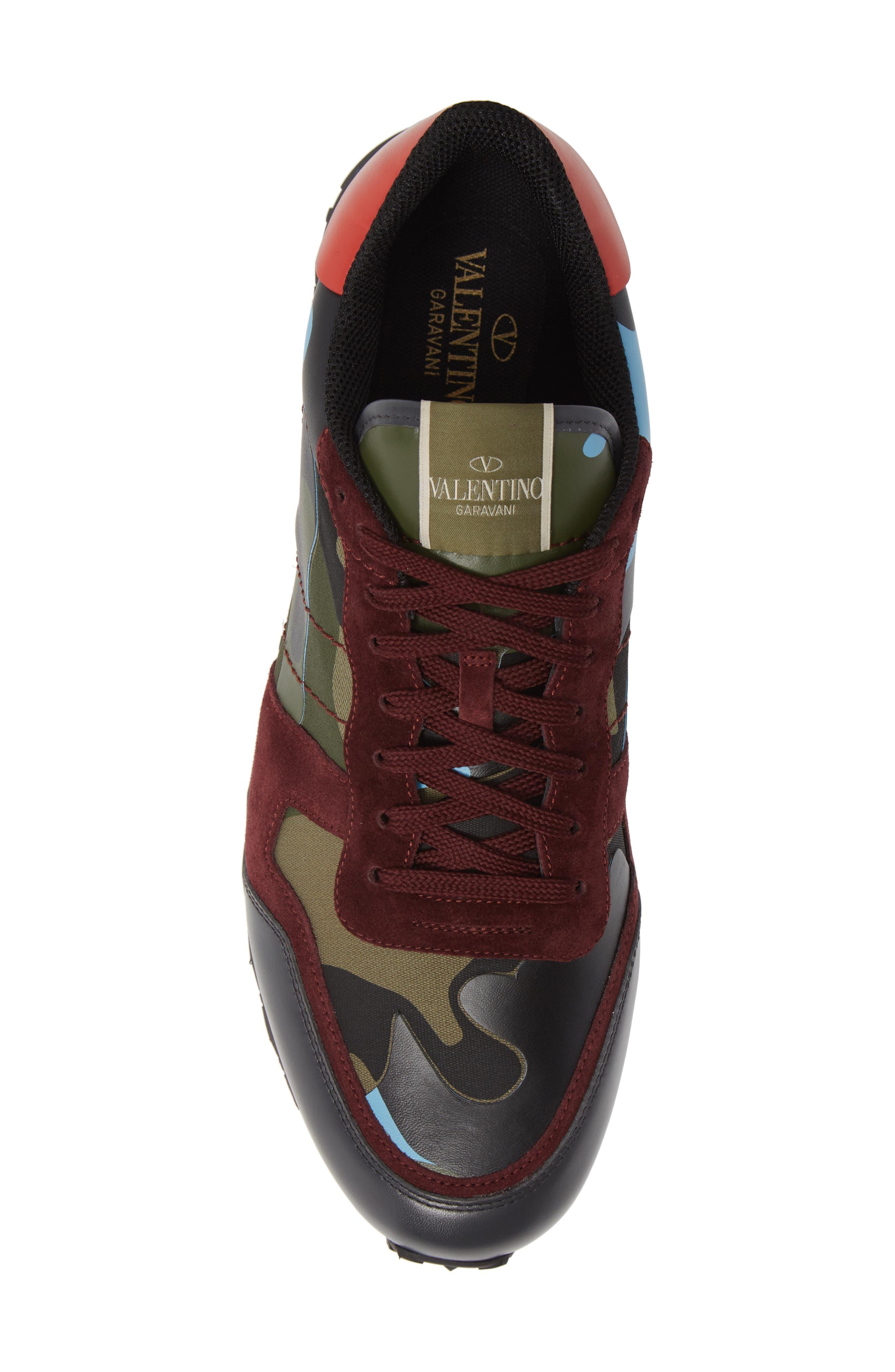 Camo Rockrunner Sneaker,                             Alternate thumbnail 5, color,                             LIGHT BLUE/ BORDEAUX