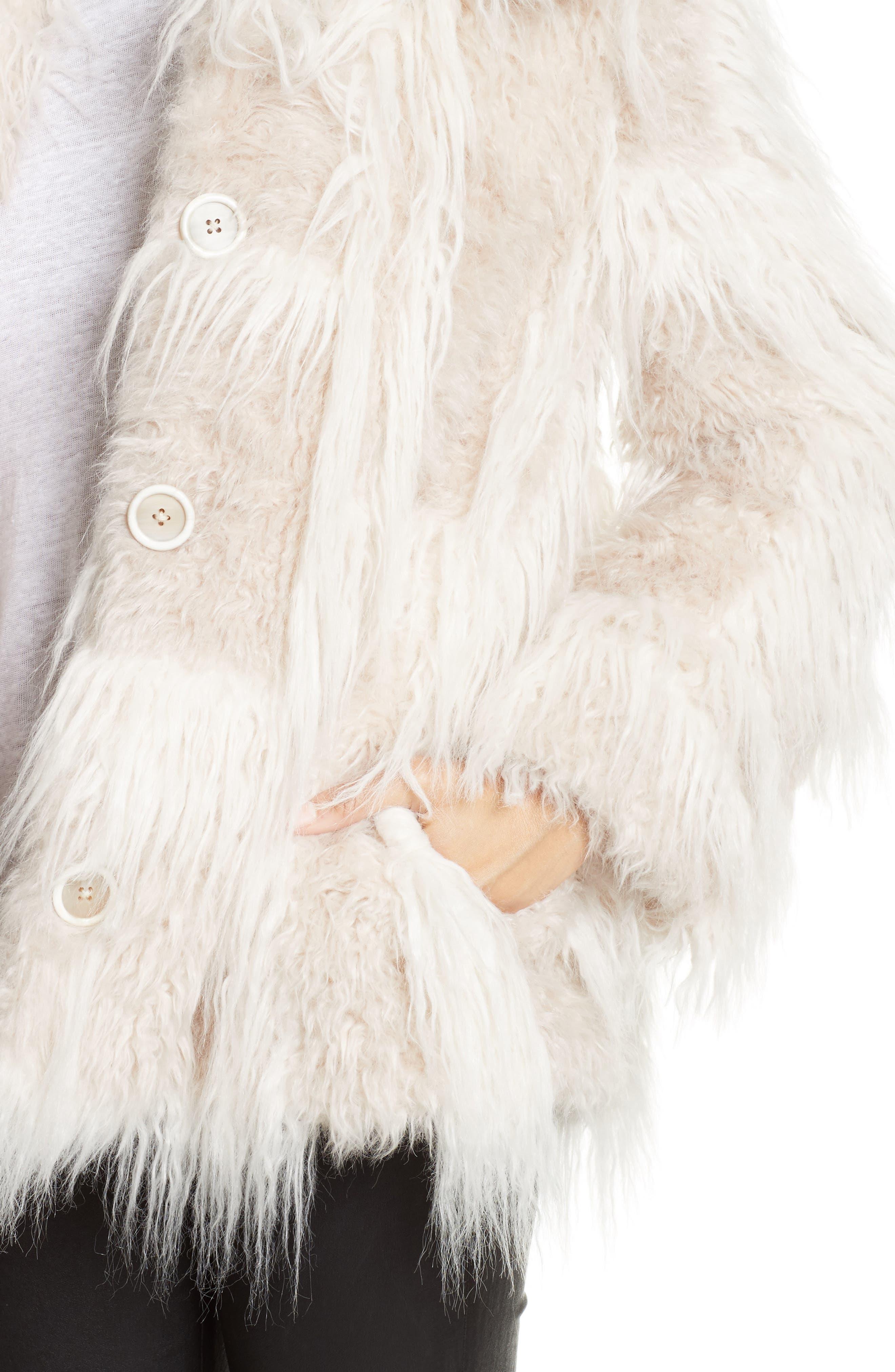 Faux Fur Jacket,                             Alternate thumbnail 4, color,                             194