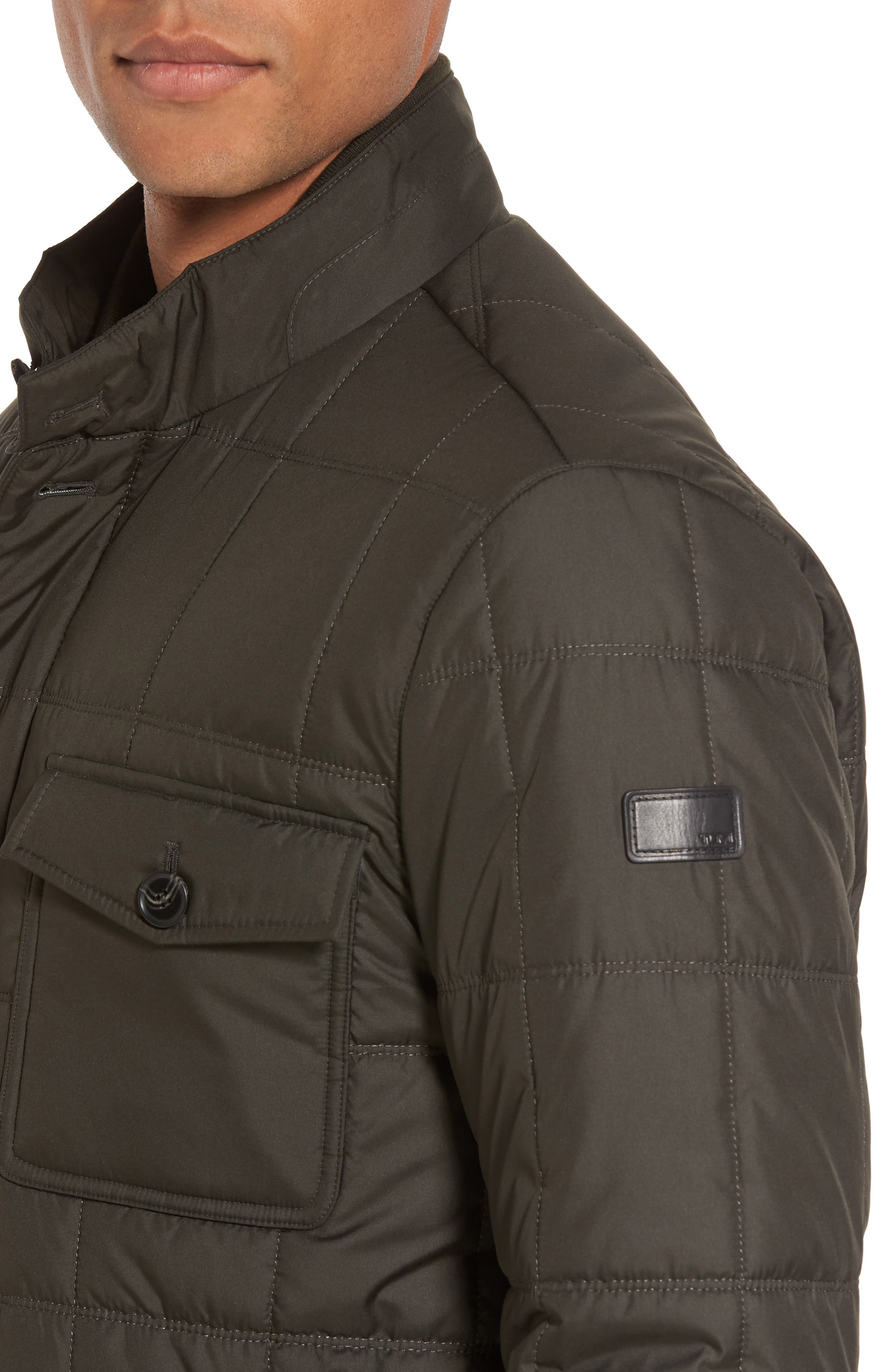 Regular Fit Quilted Jacket,                             Alternate thumbnail 10, color,