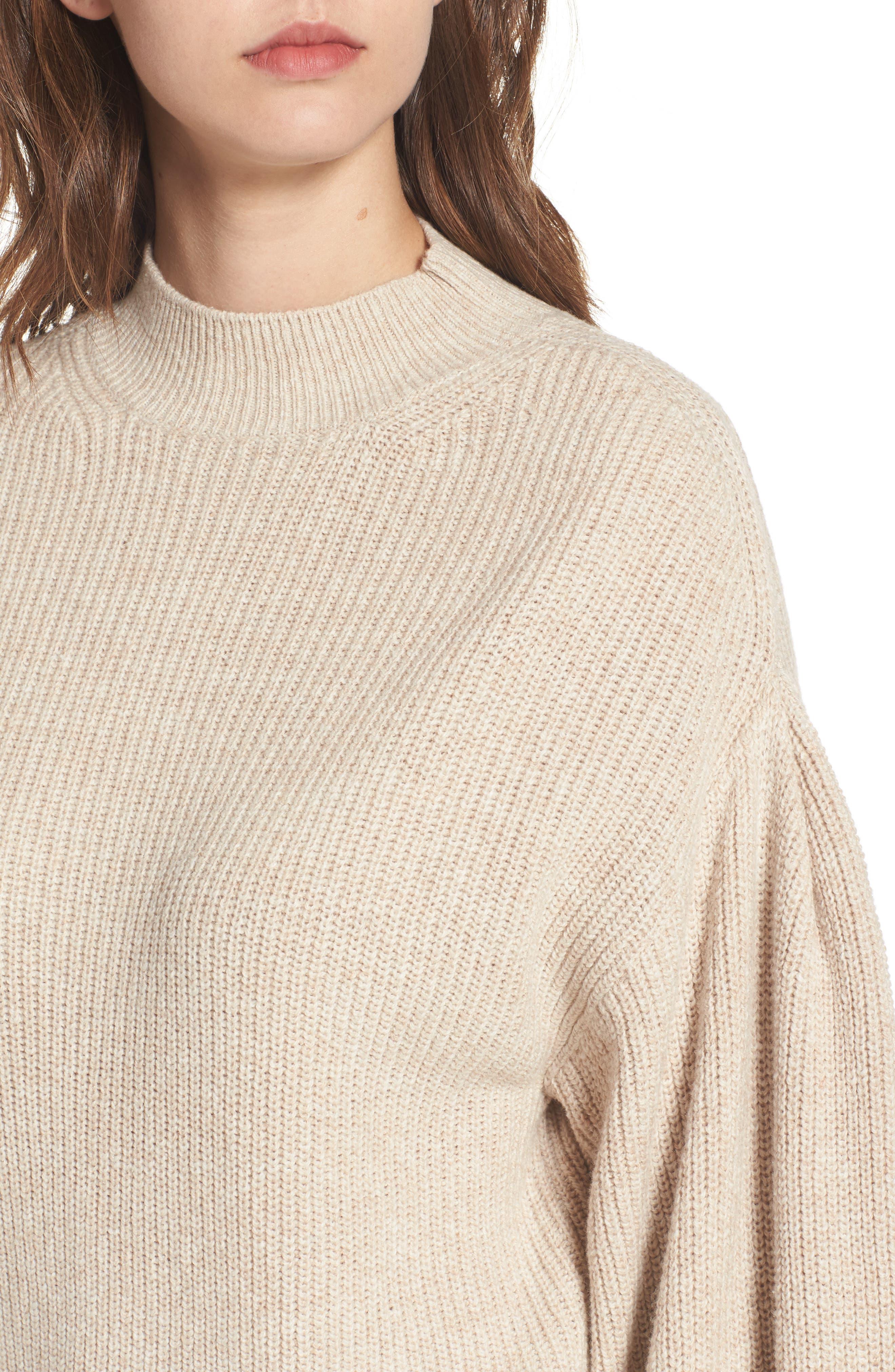 Blouson Sleeve Sweater,                             Alternate thumbnail 18, color,