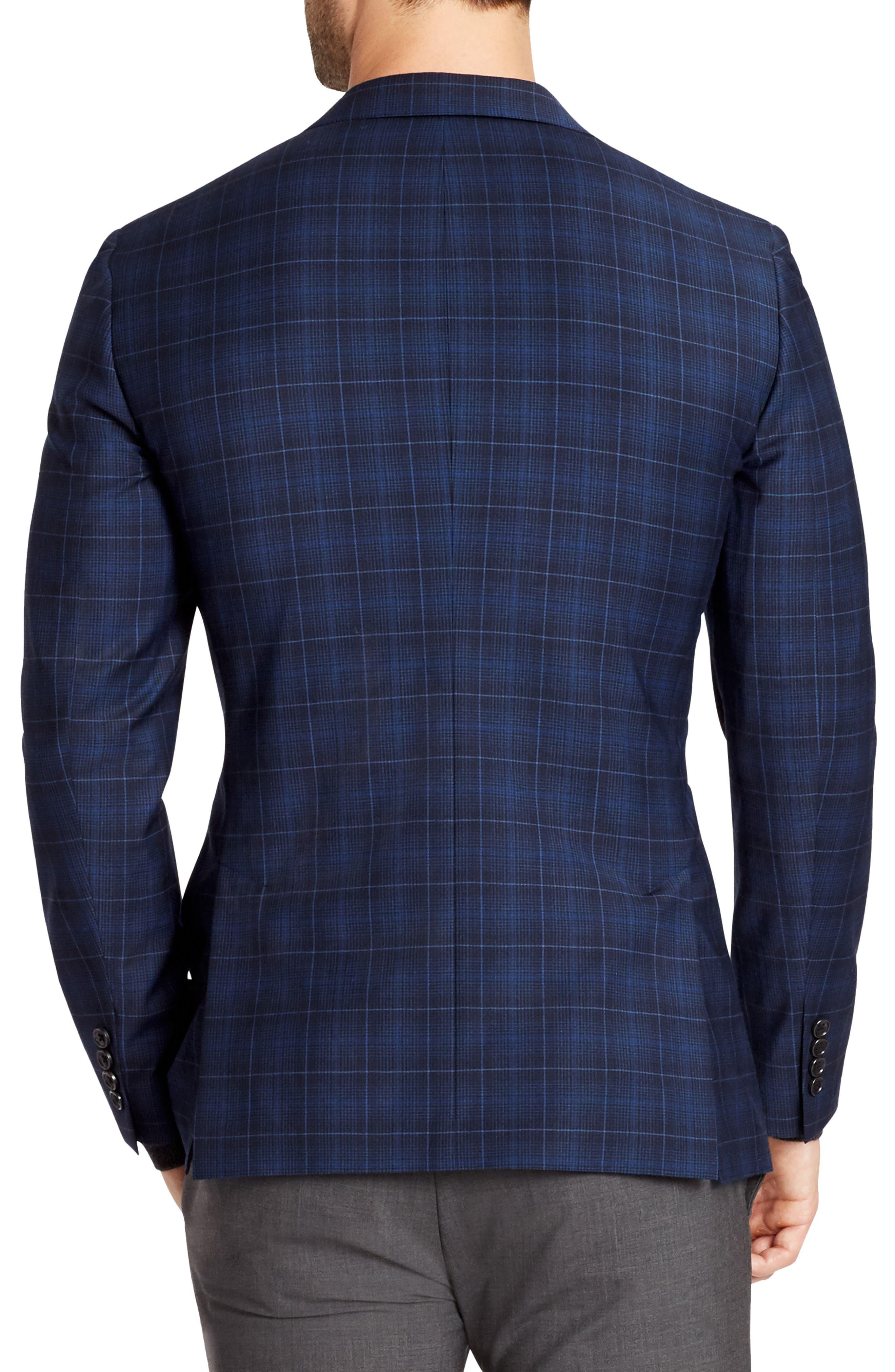 Jetsetter Slim Fit Plaid Wool Sport Coat,                             Alternate thumbnail 2, color,                             400