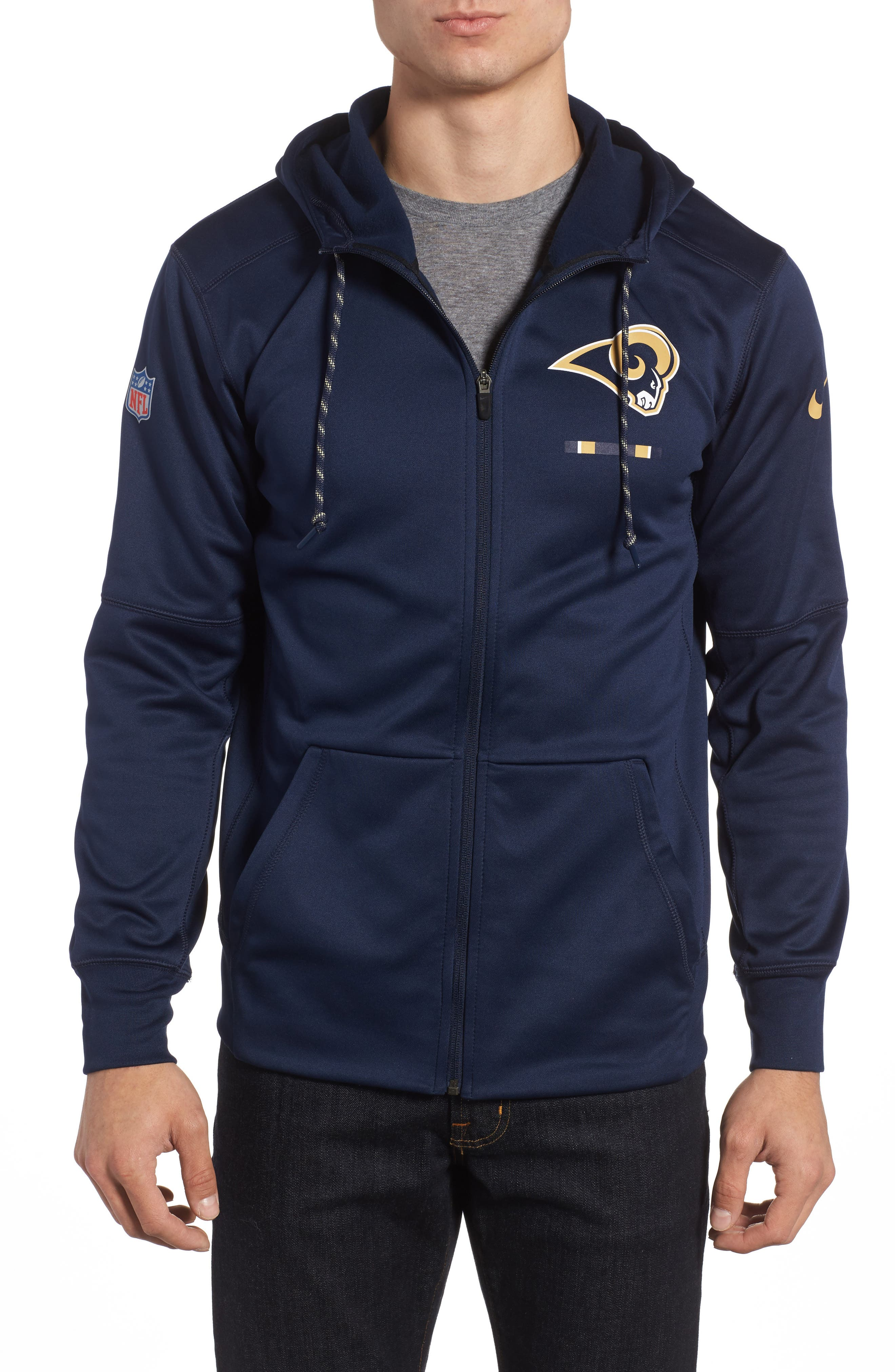 Therma-FIT NFL Graphic Zip Hoodie,                             Main thumbnail 5, color,