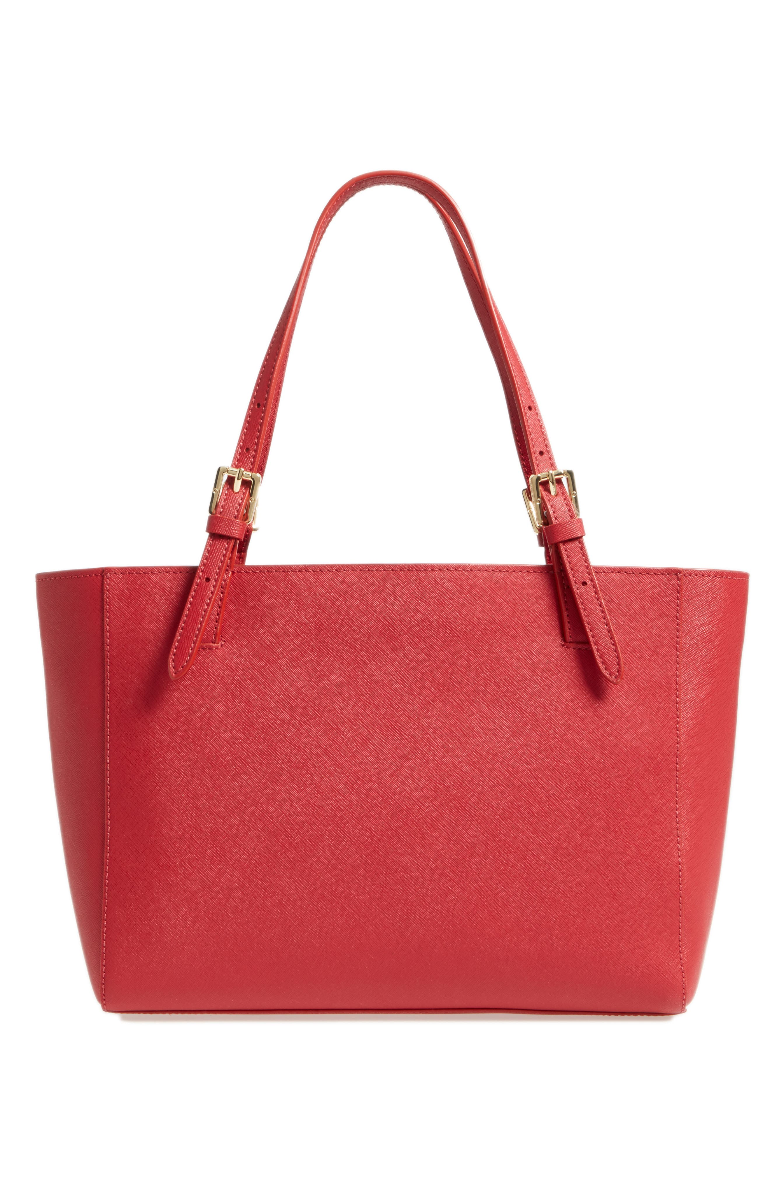 'Small York' Saffiano Leather Buckle Tote,                             Alternate thumbnail 41, color,