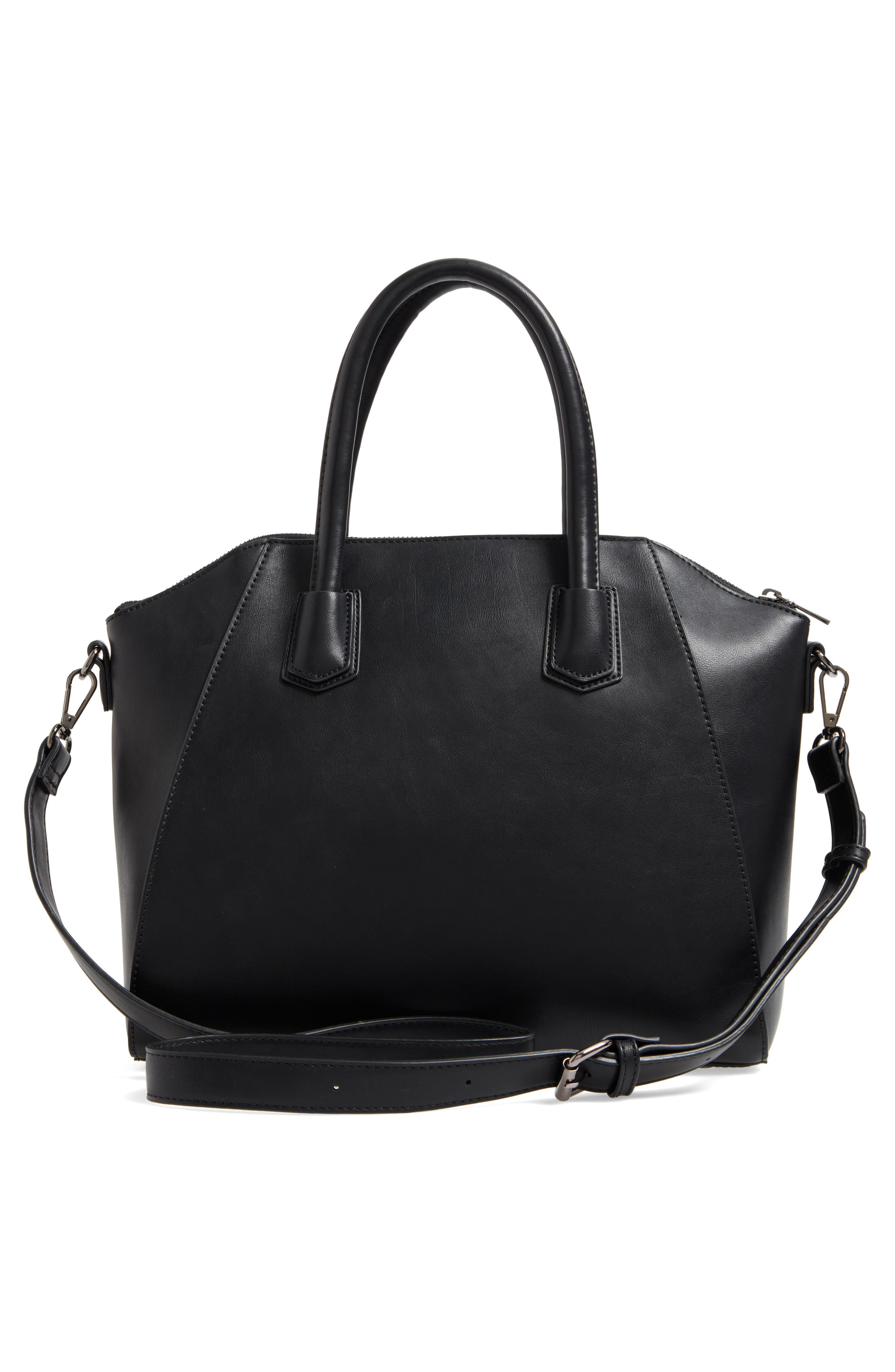 Rosamund Faux Leather and Genuine Suede Satchel,                             Alternate thumbnail 7, color,