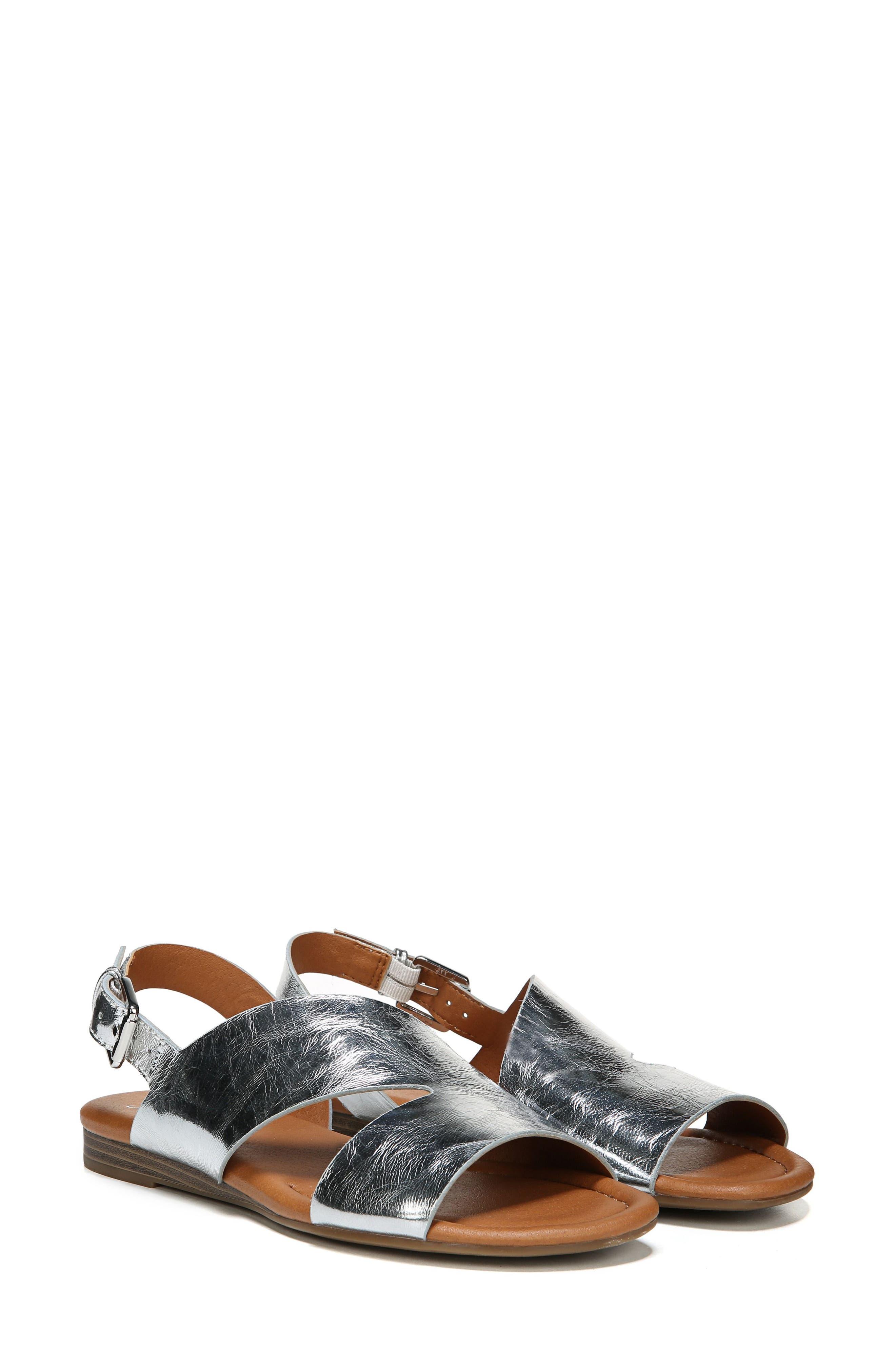 Garza Slingback Sandal,                             Alternate thumbnail 8, color,                             ARGENTO LEATHER