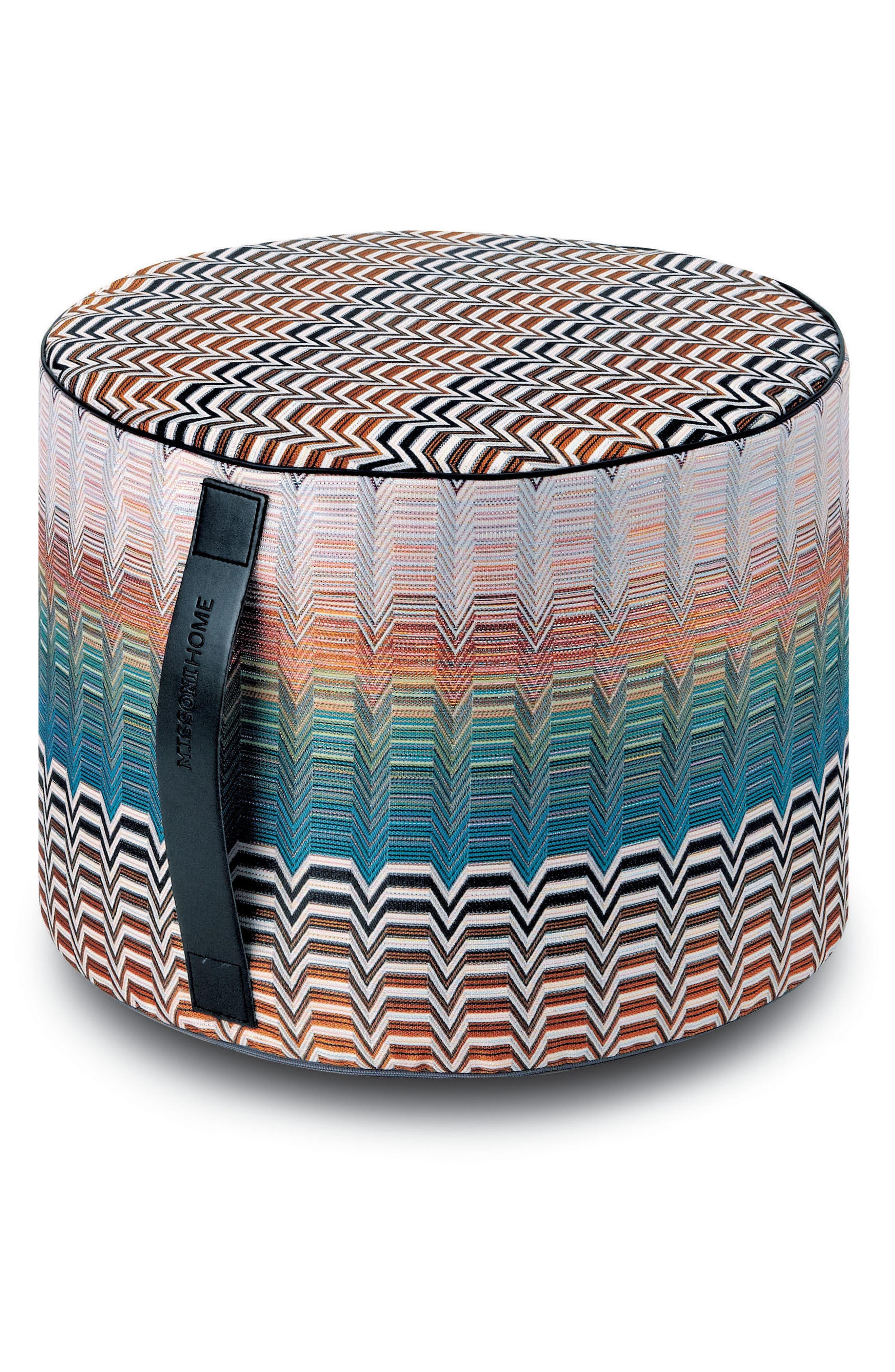 Santa Fe Seattle Cylindrical Floor Pouf,                         Main,                         color, 440