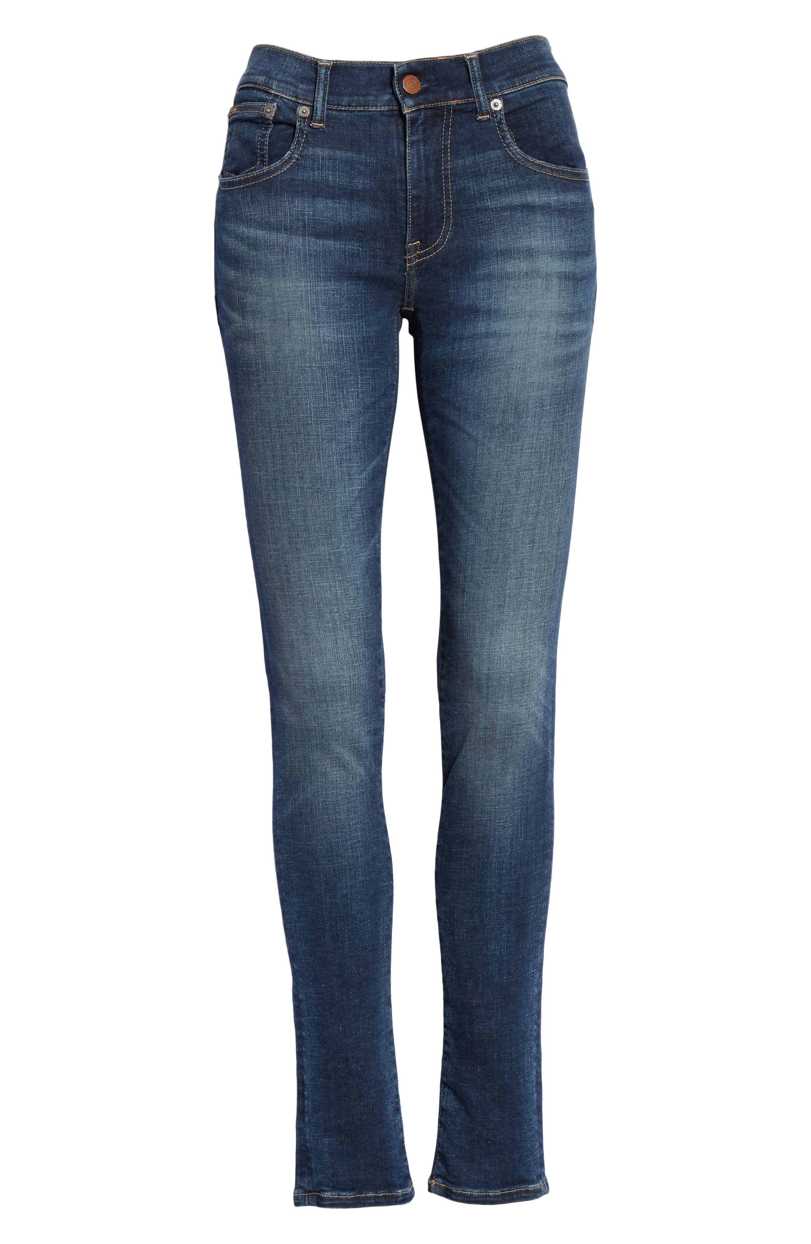 Super Skinny Jeans,                             Alternate thumbnail 6, color,                             DARK INDIGO